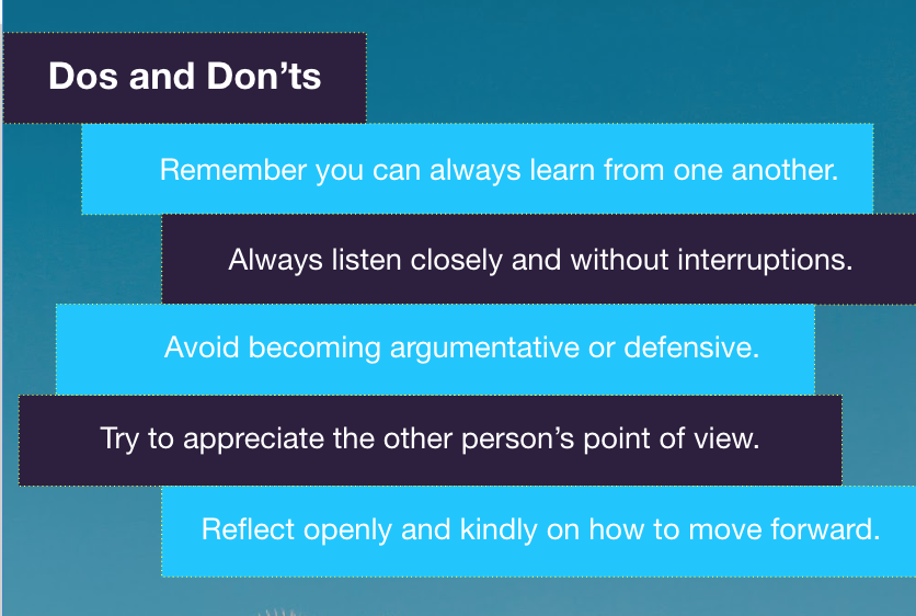 The dos and don'ts of feedback