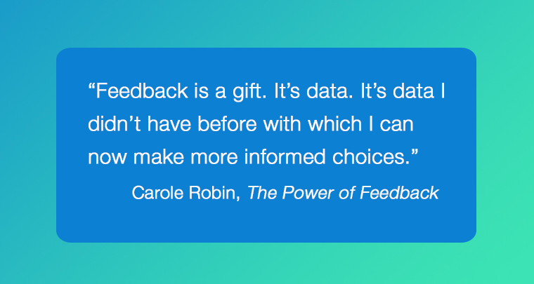 Feedback Culture quote from the book 'The Power of Feedback""