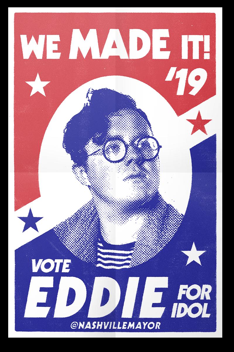 Eddie Island American Idol Poster