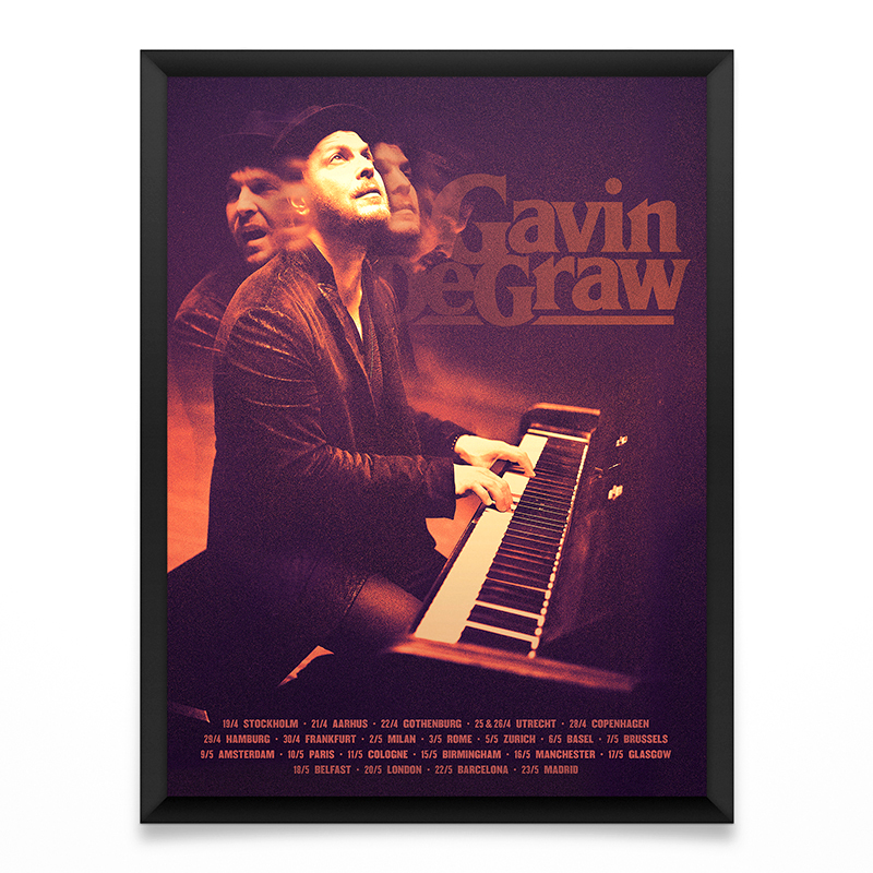 Gavin DeGraw Europe Tour Poster