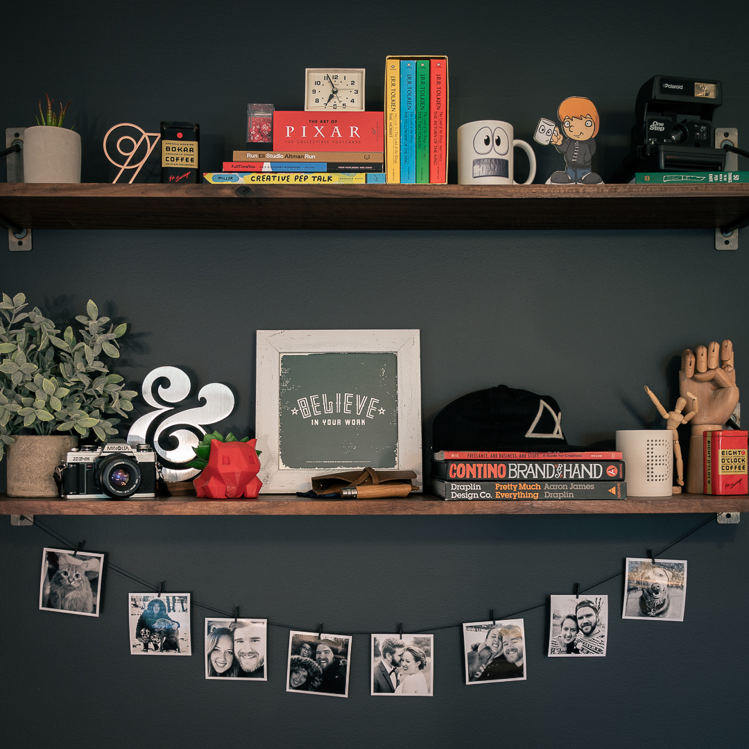 Shelves in my home office