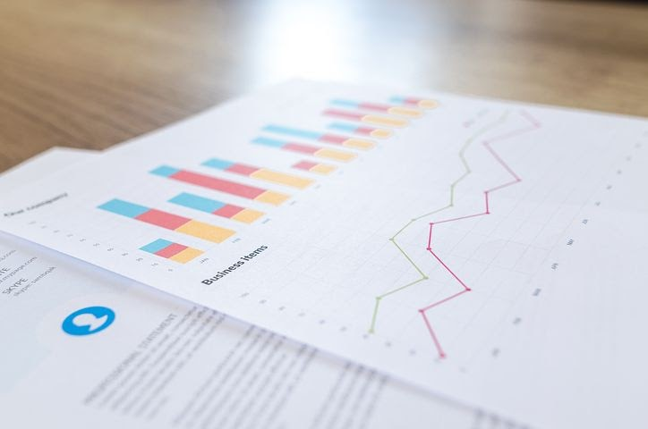 spreadsheets detailing a business plan