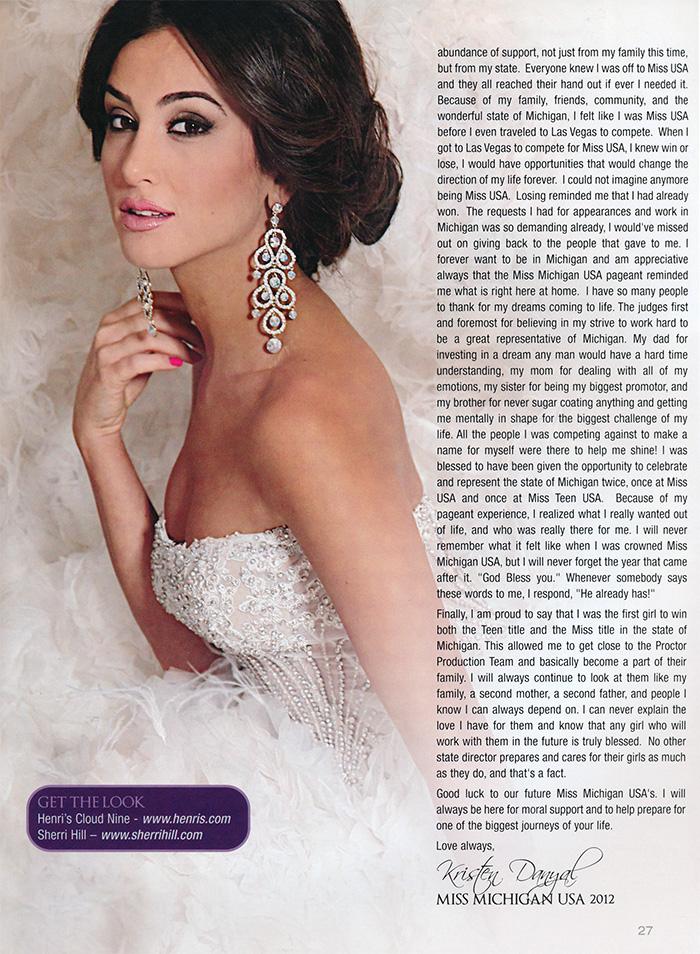 Miss Michigan USA 2013 Program
