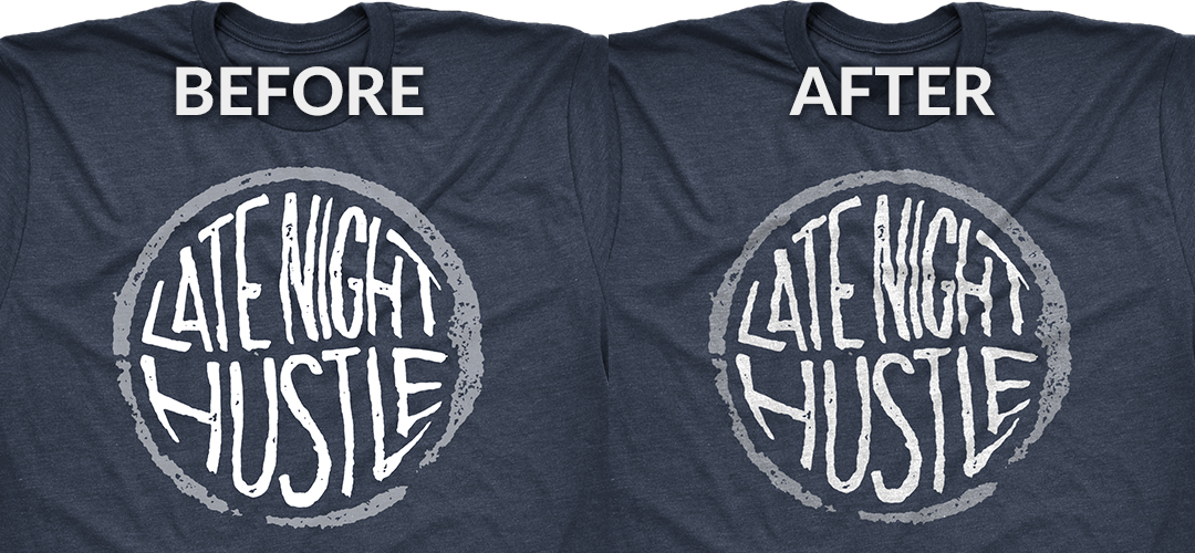 Before - After T-Shirt Mockup