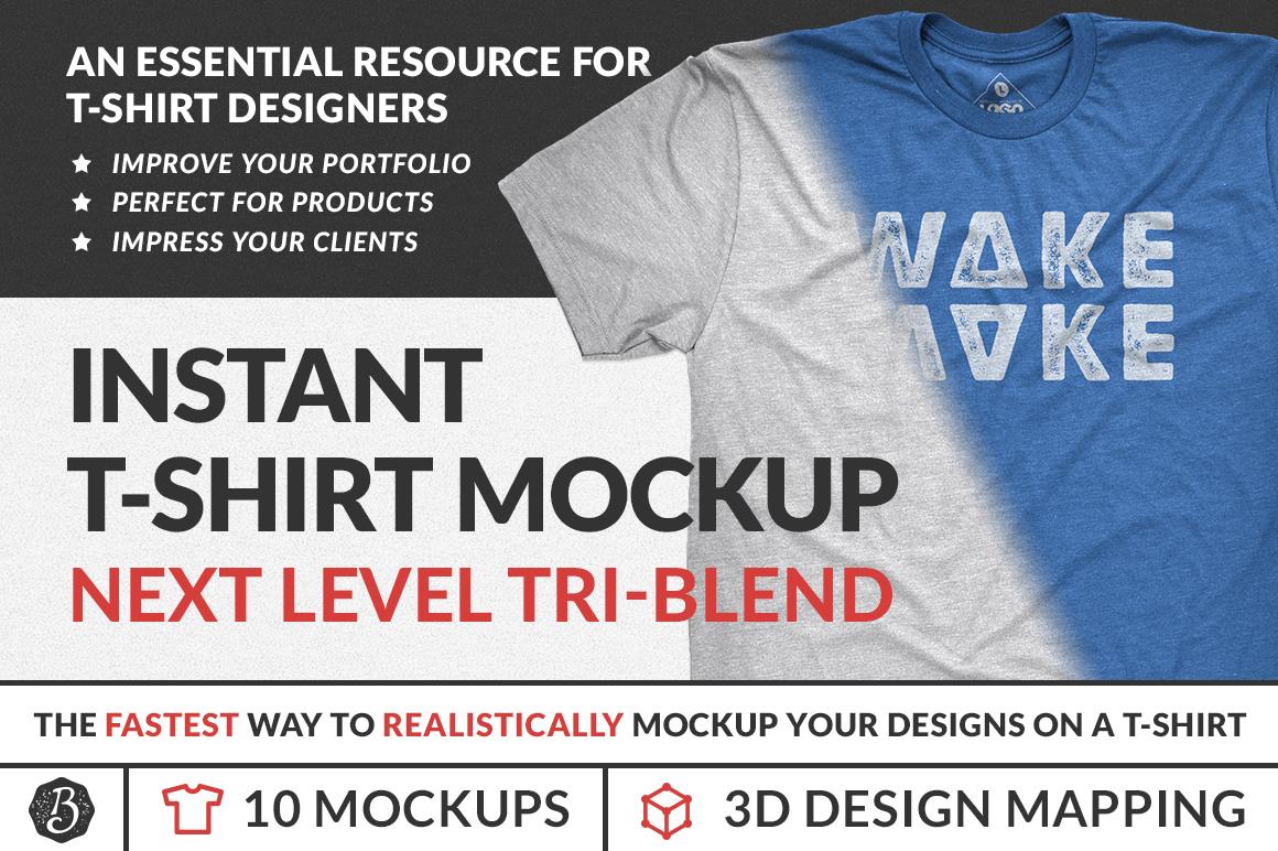 Instant Tri-Blend T-Shirt Mockups