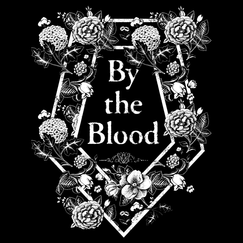 By the Blood Floral Band Merch Artwork