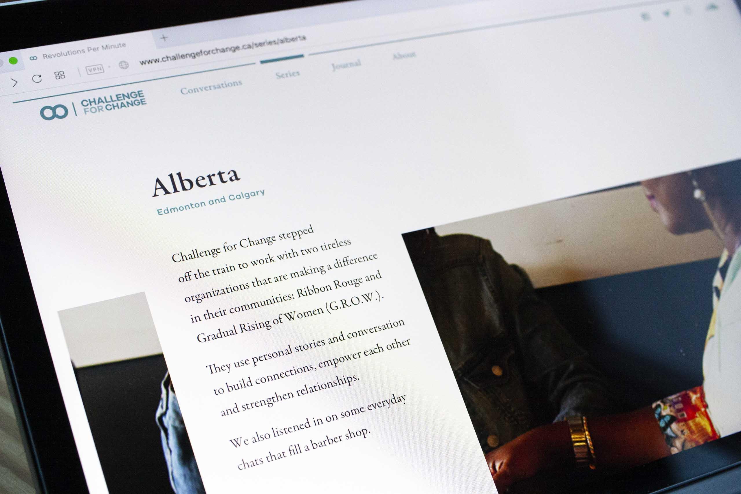 Close up photograph of the Alberta, Edmonton and Calgary series  — by Yagnyuk.