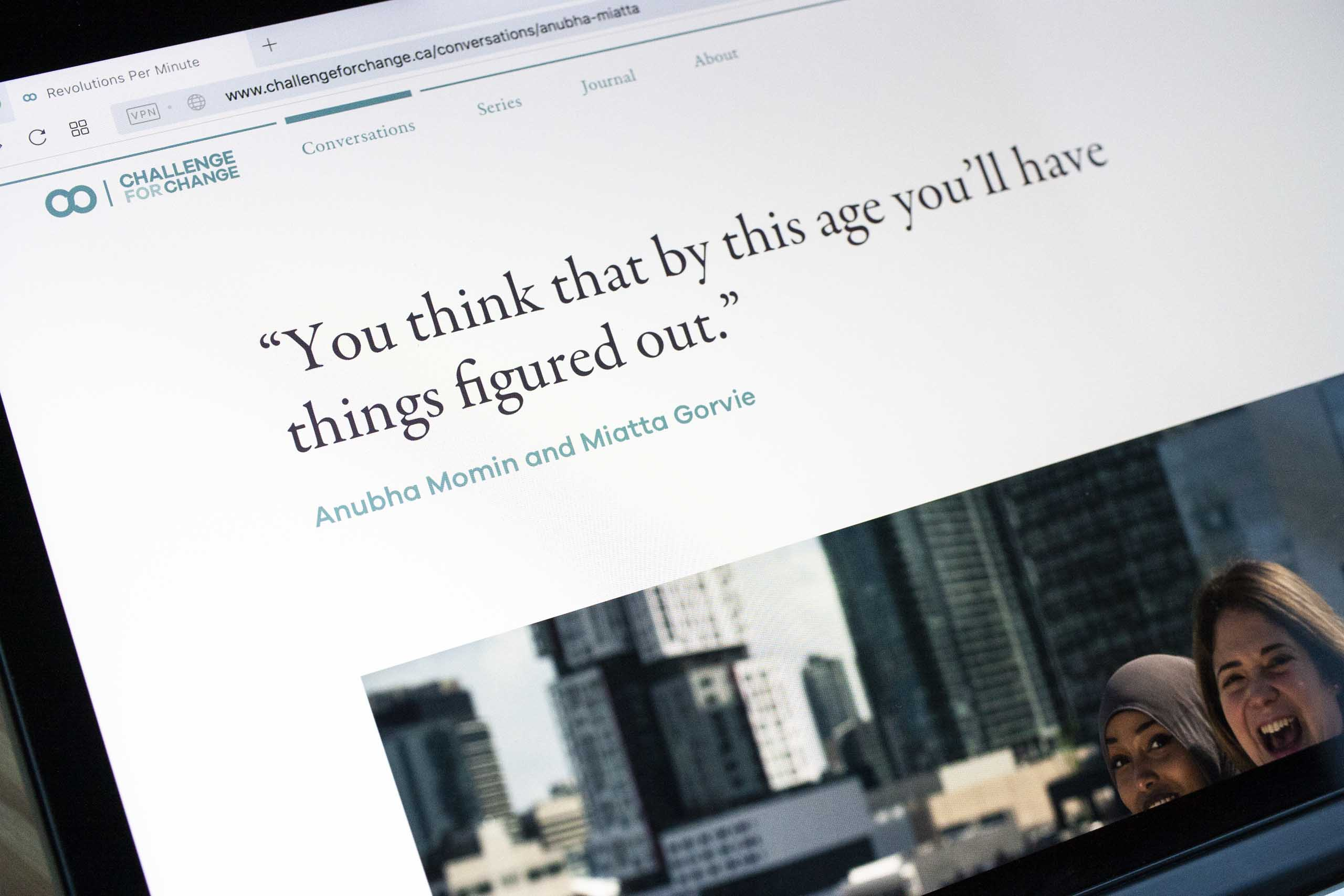 Headline for a conversation set in Garamond Premiere typeface showcasing the digital application of fi ligature — by Yagnyuk.