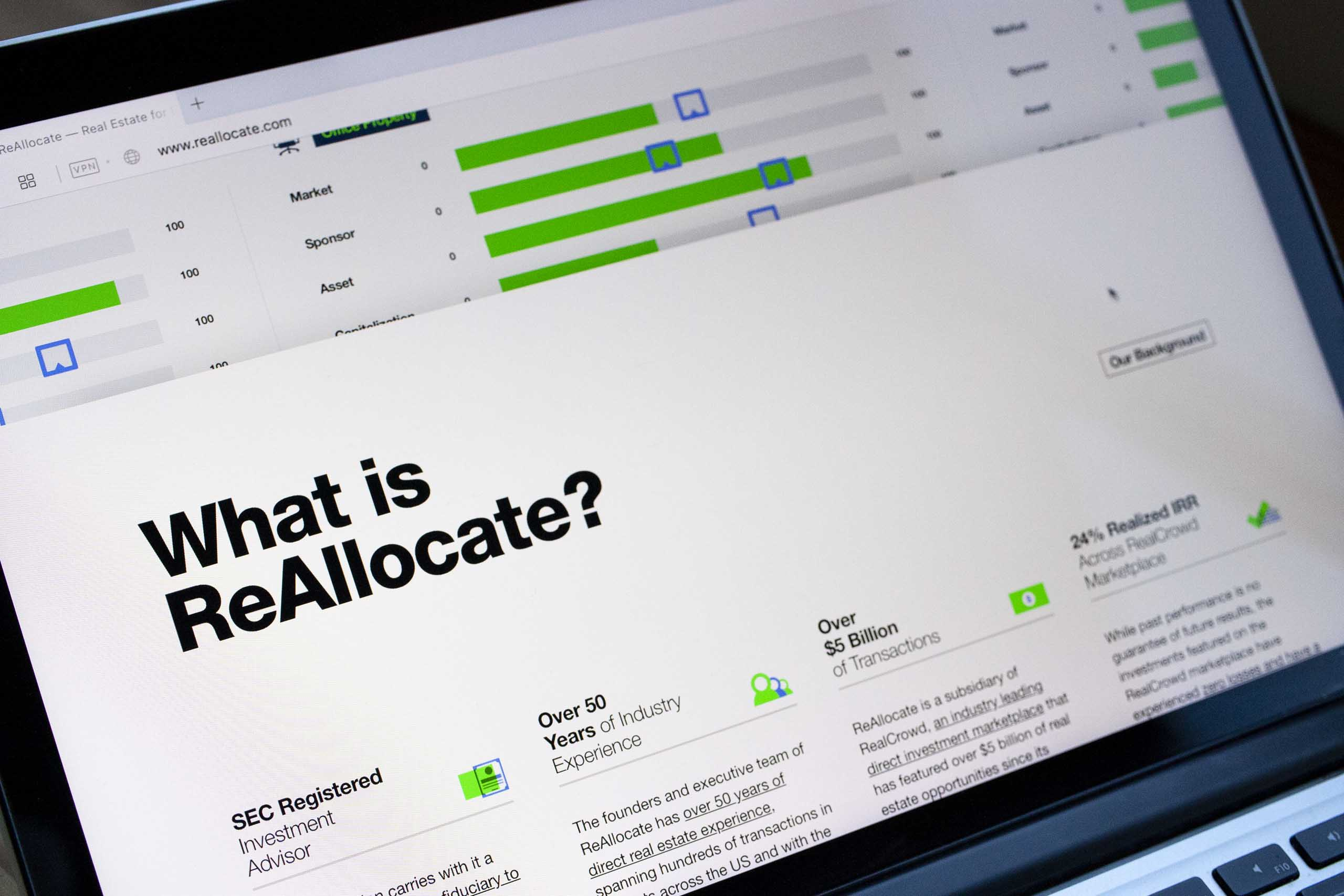 "A close up of ""What is ReAllocate"" section on a laptop screen — by Dima Yagnyuk."