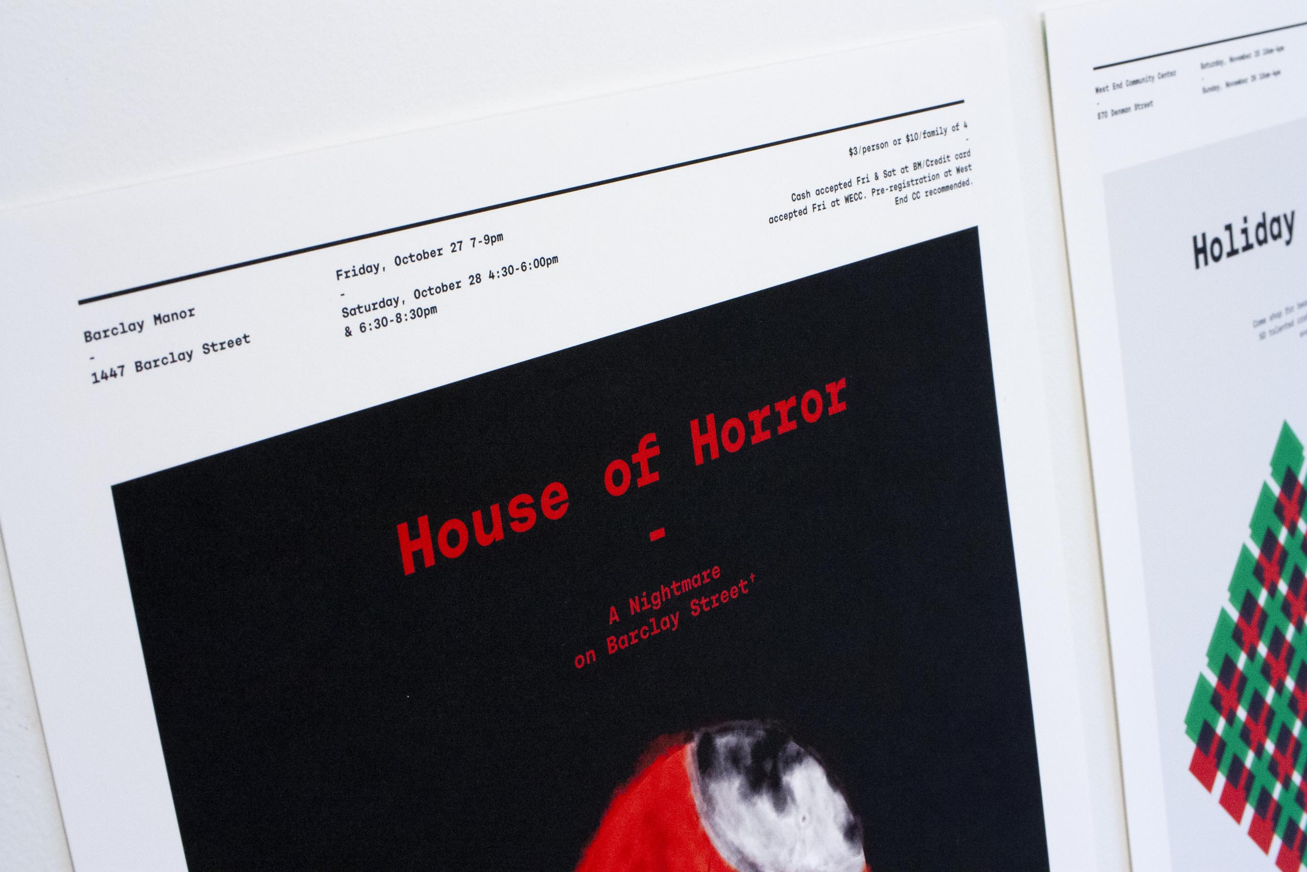 Close up of the House of Horror — A Nightmare on Barclay Street top of the poster — by Dima.