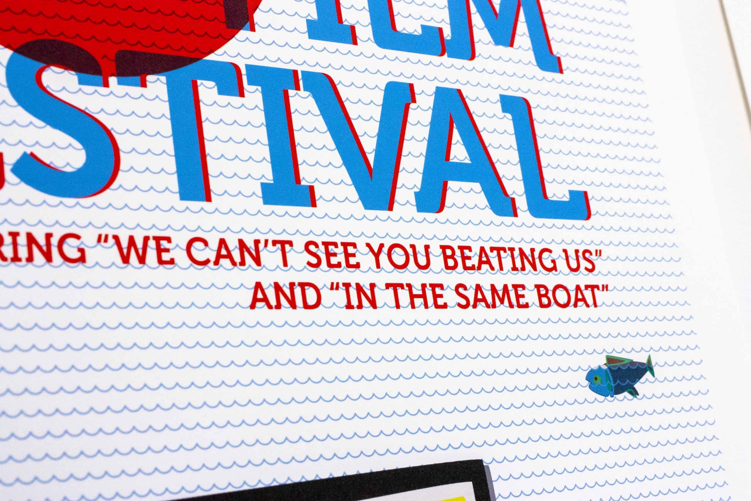 Close up of Film Festival poster headline — by Yagnyuk.