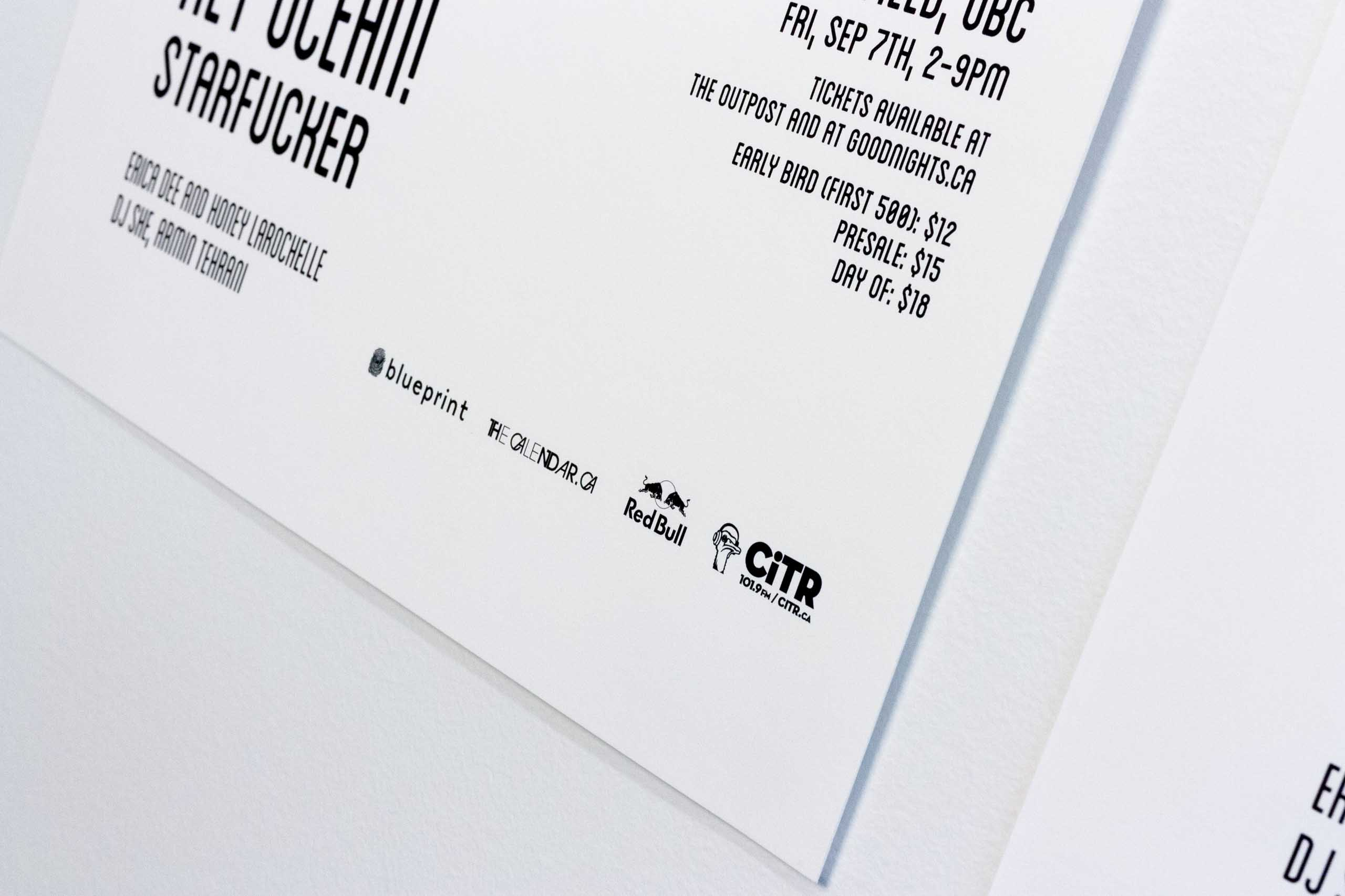 Details of poster information set in Blanch Condensed typeface, including event sponsors — by Yagnyuk.