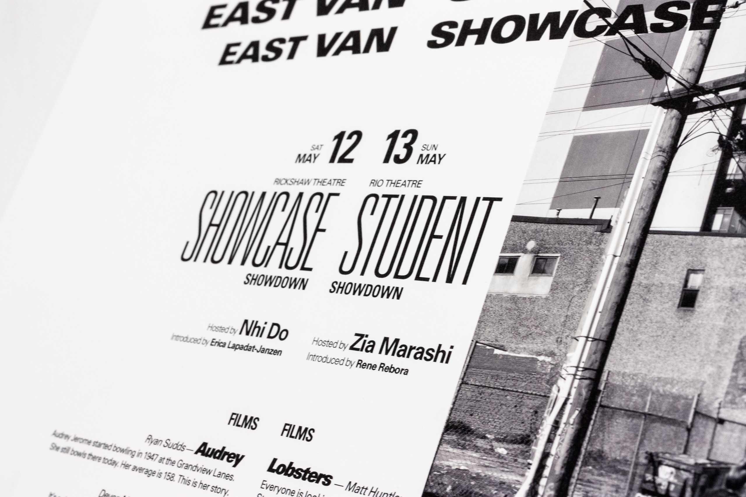Close up of headline typography for showcase and student shows — by Yagnyuk.