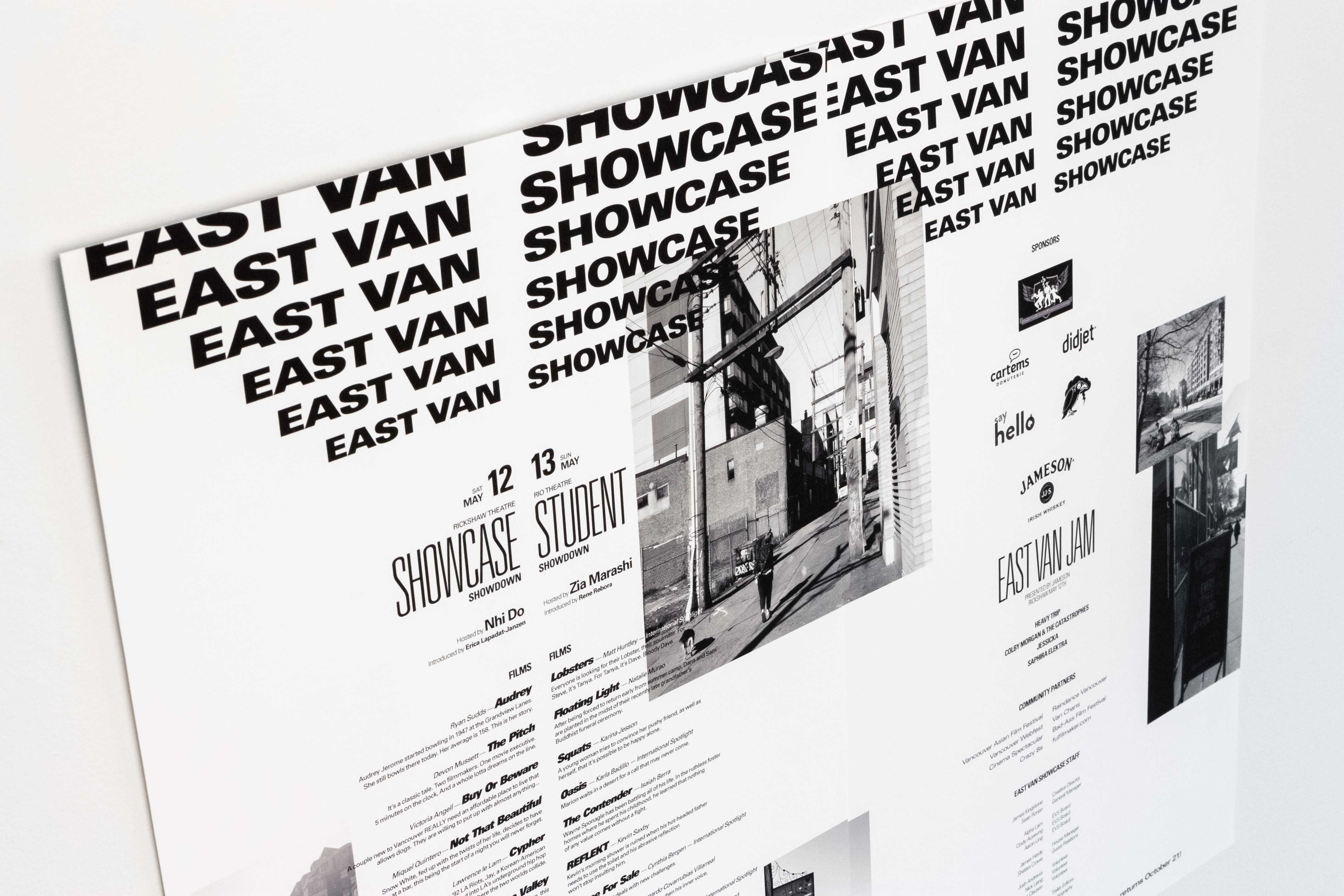 East Van Showcase event poster — by Yagnyuk.