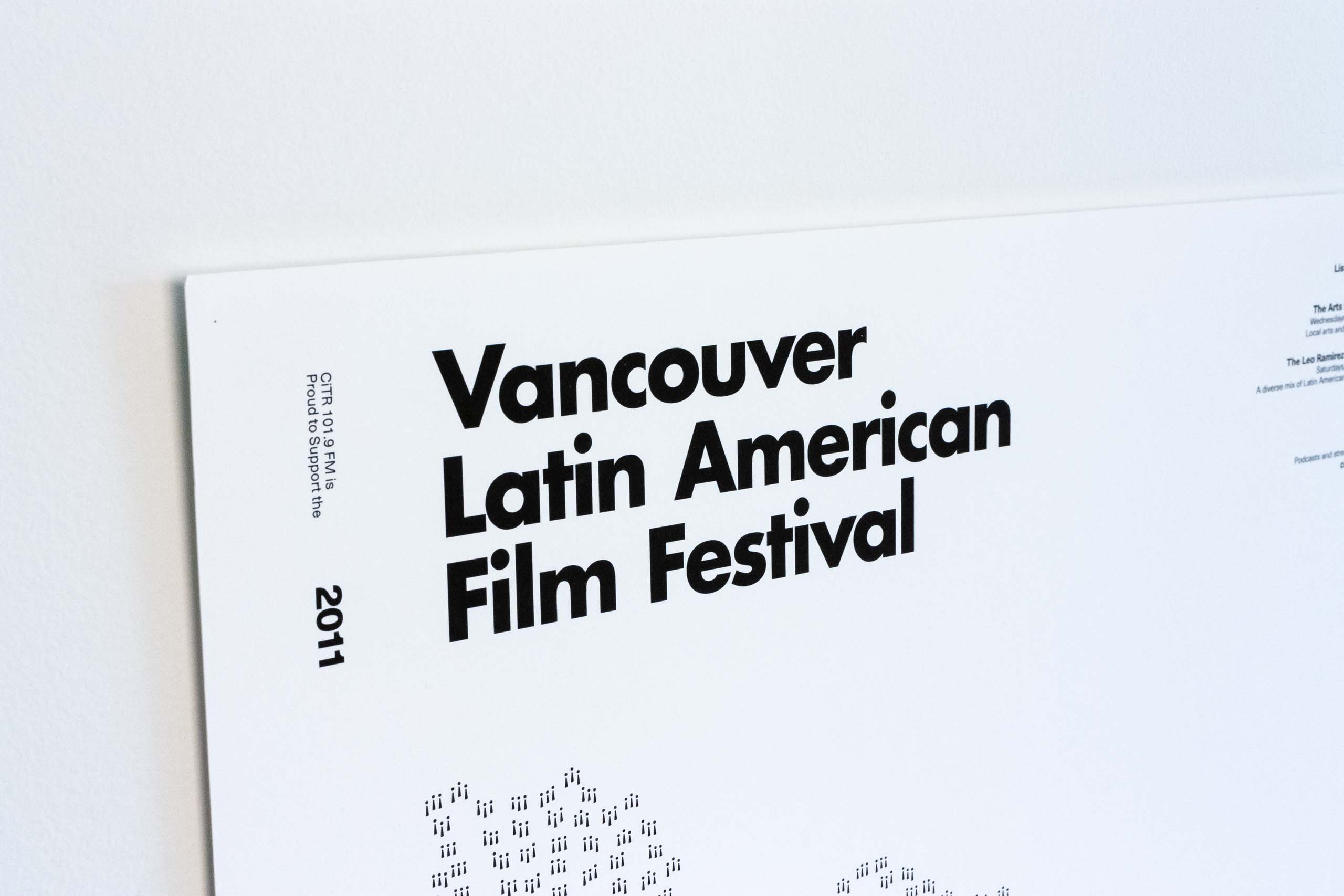 Close up of Latin American Festival Poster headline set in Futura typeface — by Dima Yagnyuk.