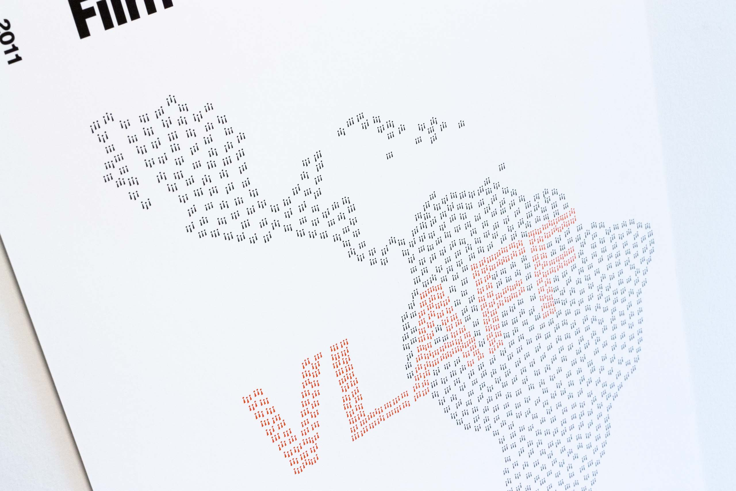 Close up of the poster showing exclamation marks spelling out VLAFF word — by Yagnyuk.