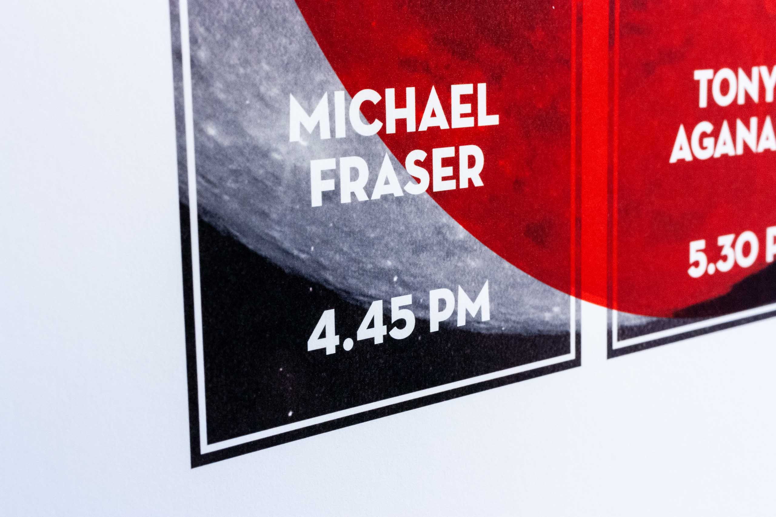 Close up of Summer Music Sessions poster featuring the show by Michael Fraser