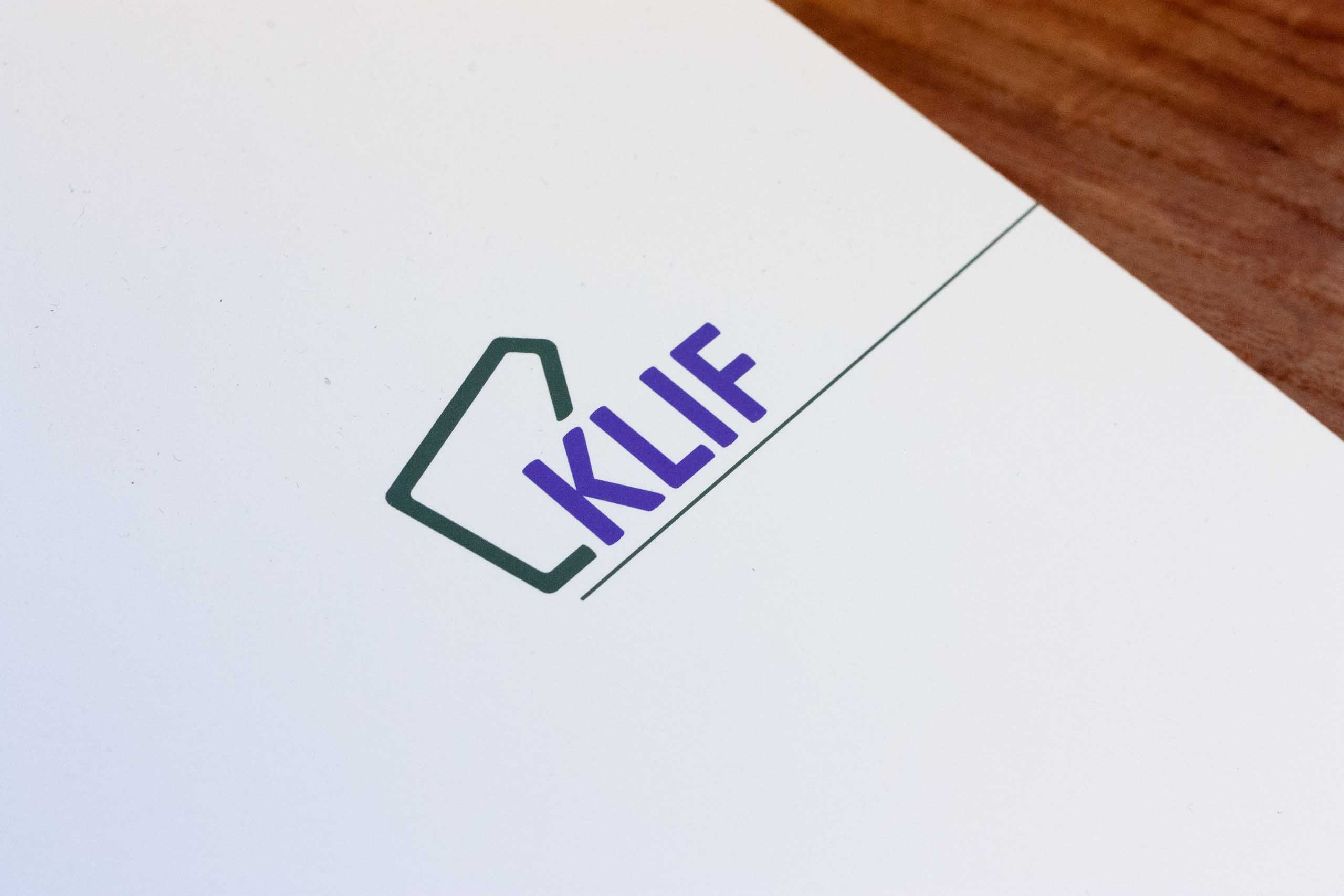 Close up of the Klif Restaurant logo on the menu — by Yagnyuk.