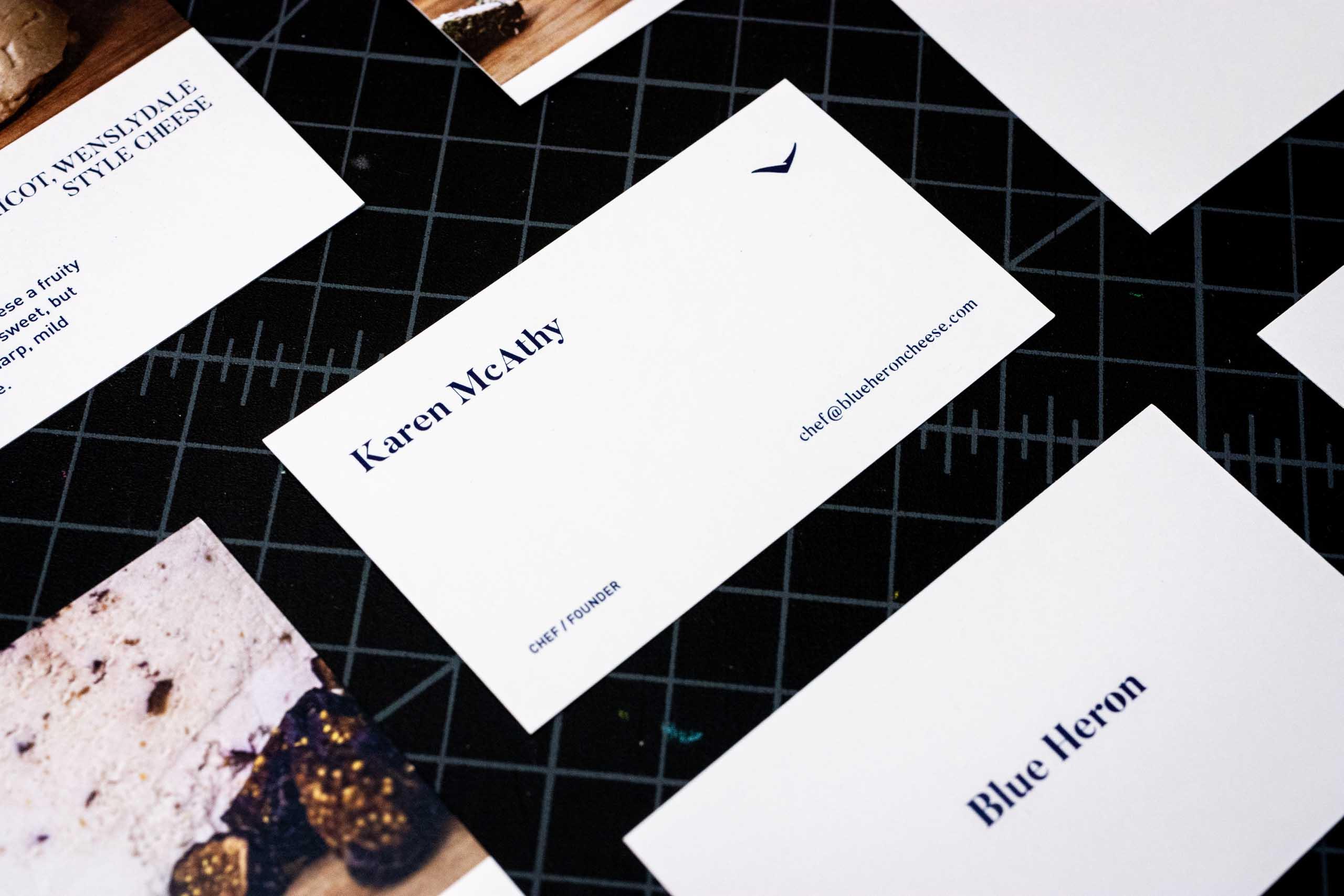 Close up of Karen McAthy's business card design — by Yagnyuk.
