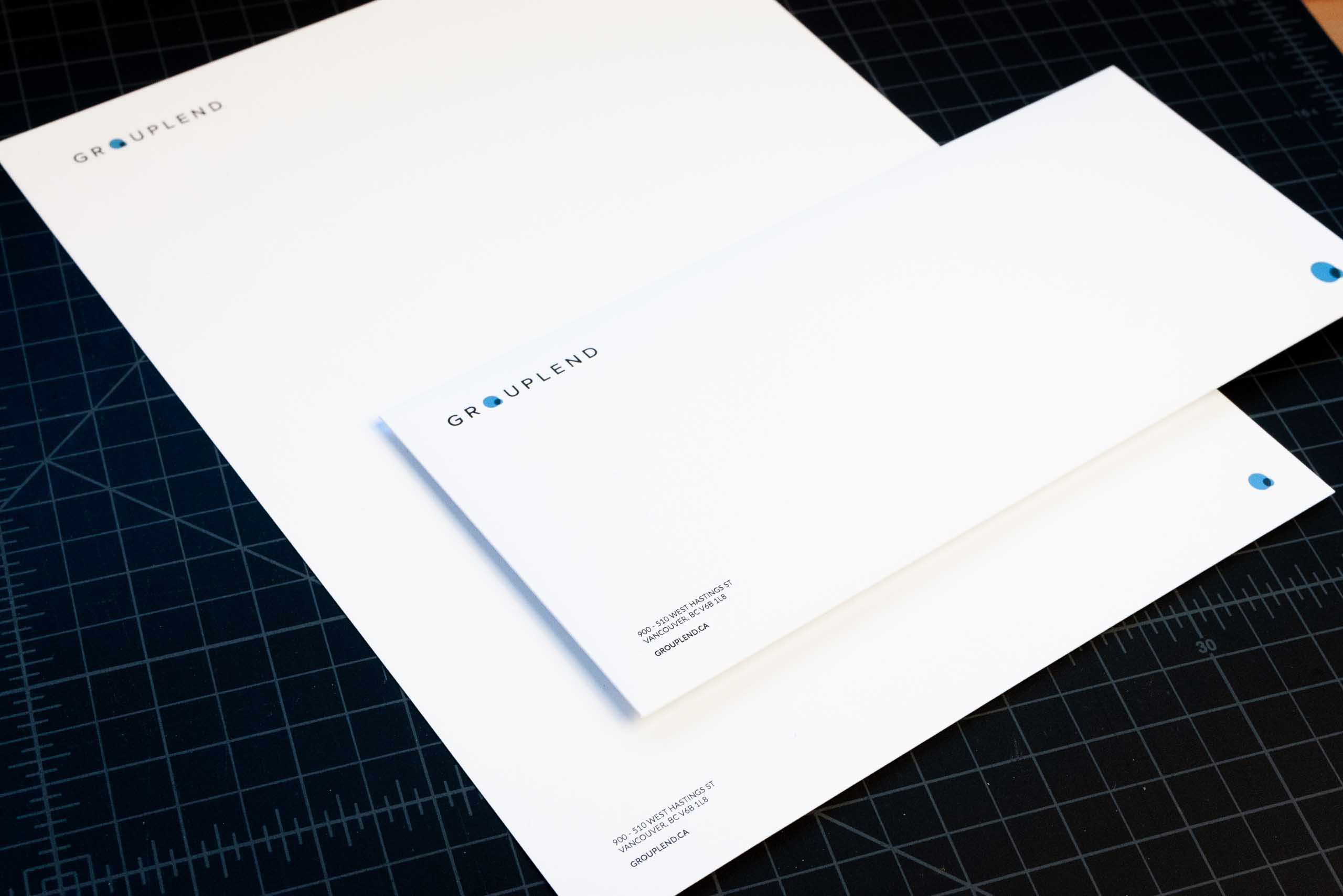 Grouplend letterhead and envelope — by Yagnyuk.