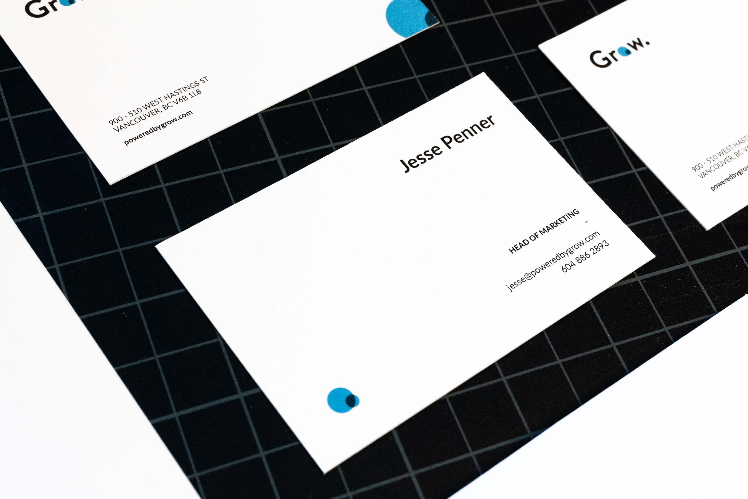 Business card front for Head of Marketing position — by Yagnyuk.