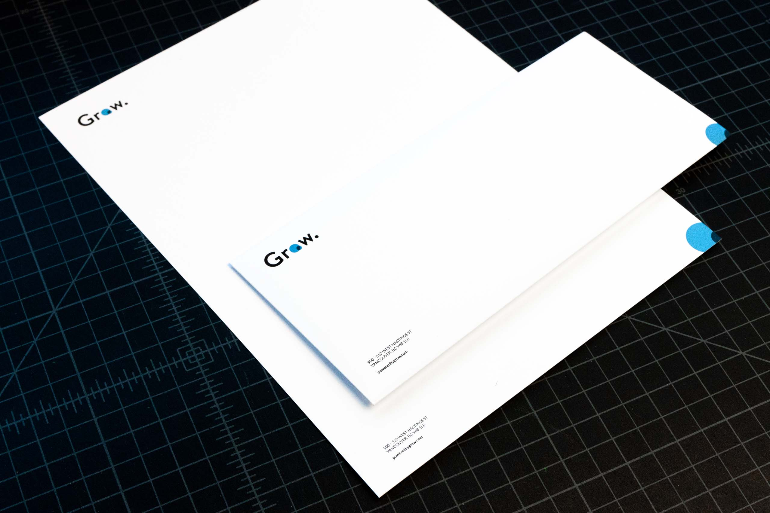 Grow technologies letterhead and envelope — by Yagnyuk.