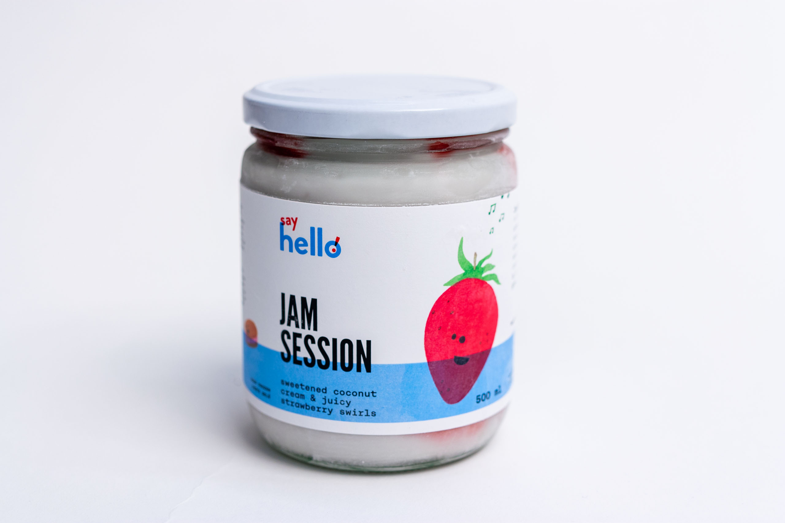 Jam Session Ice Cream jar with a strawberry illustrated — by Dima.