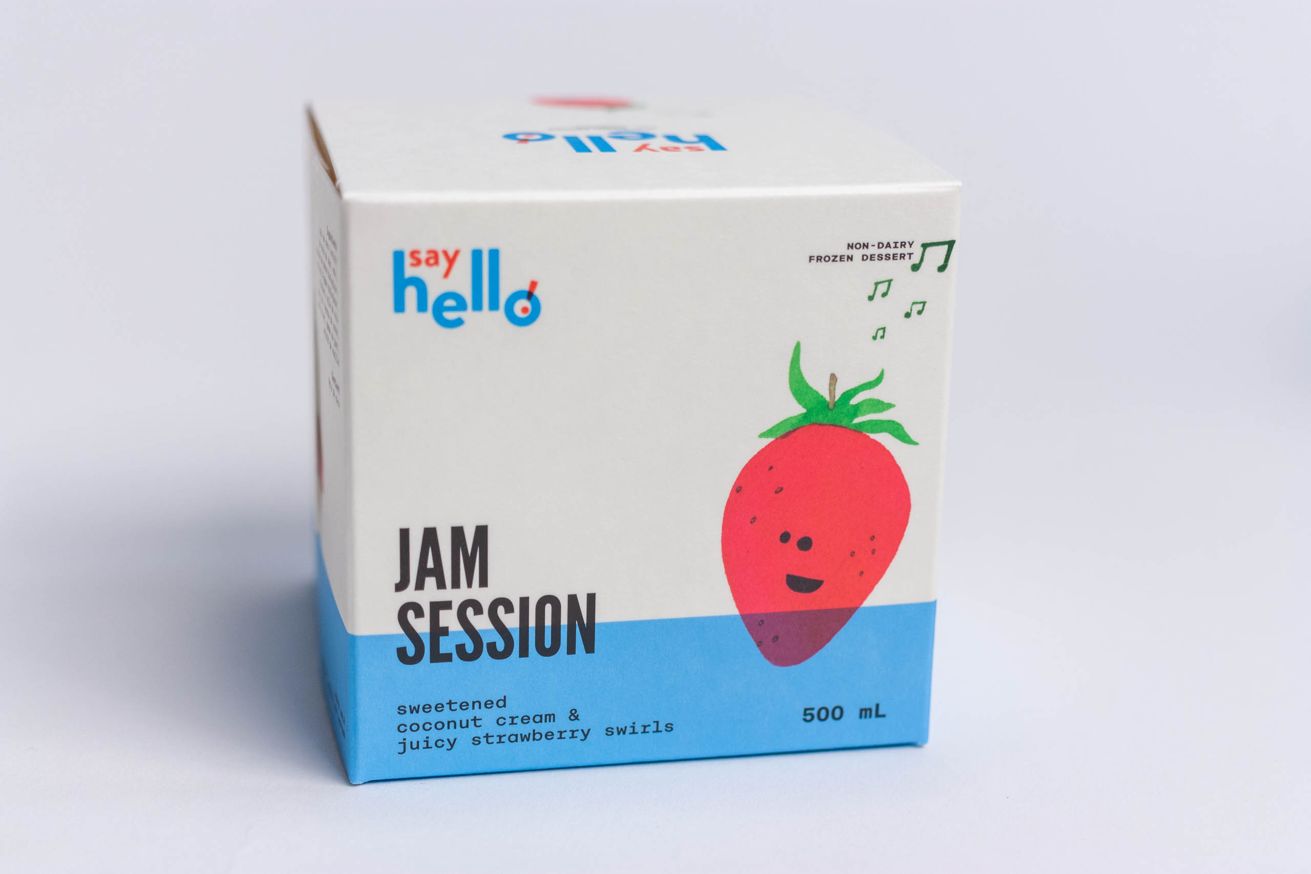 Jam Session cube with Strawberry illustration — by Yagnyuk.