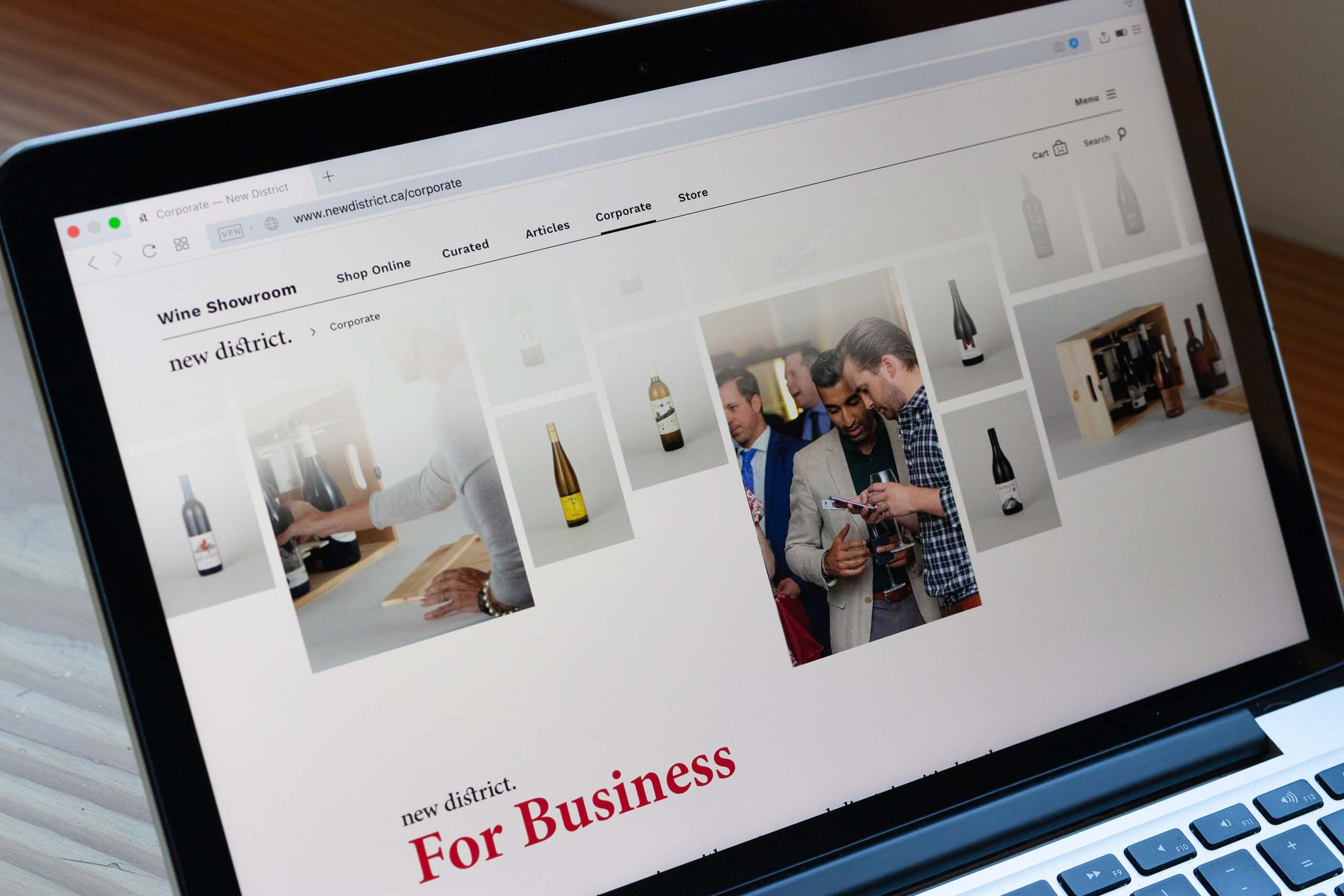 New District for Business page Header a grid of promotional images — by Yagnyuk.