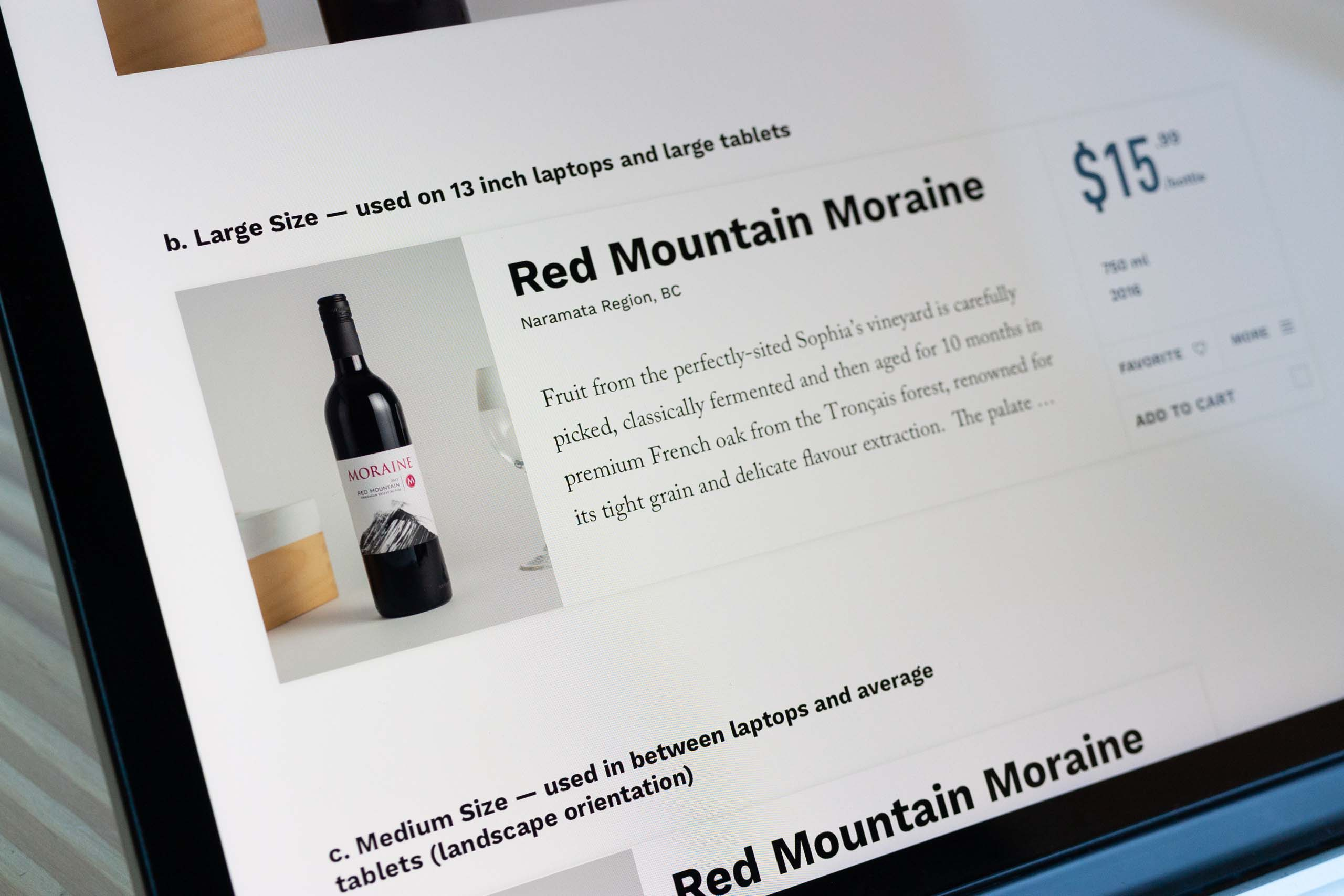 Close up of the large size product offering as it appears on the shop wine page detail — by Yagnyuk. view