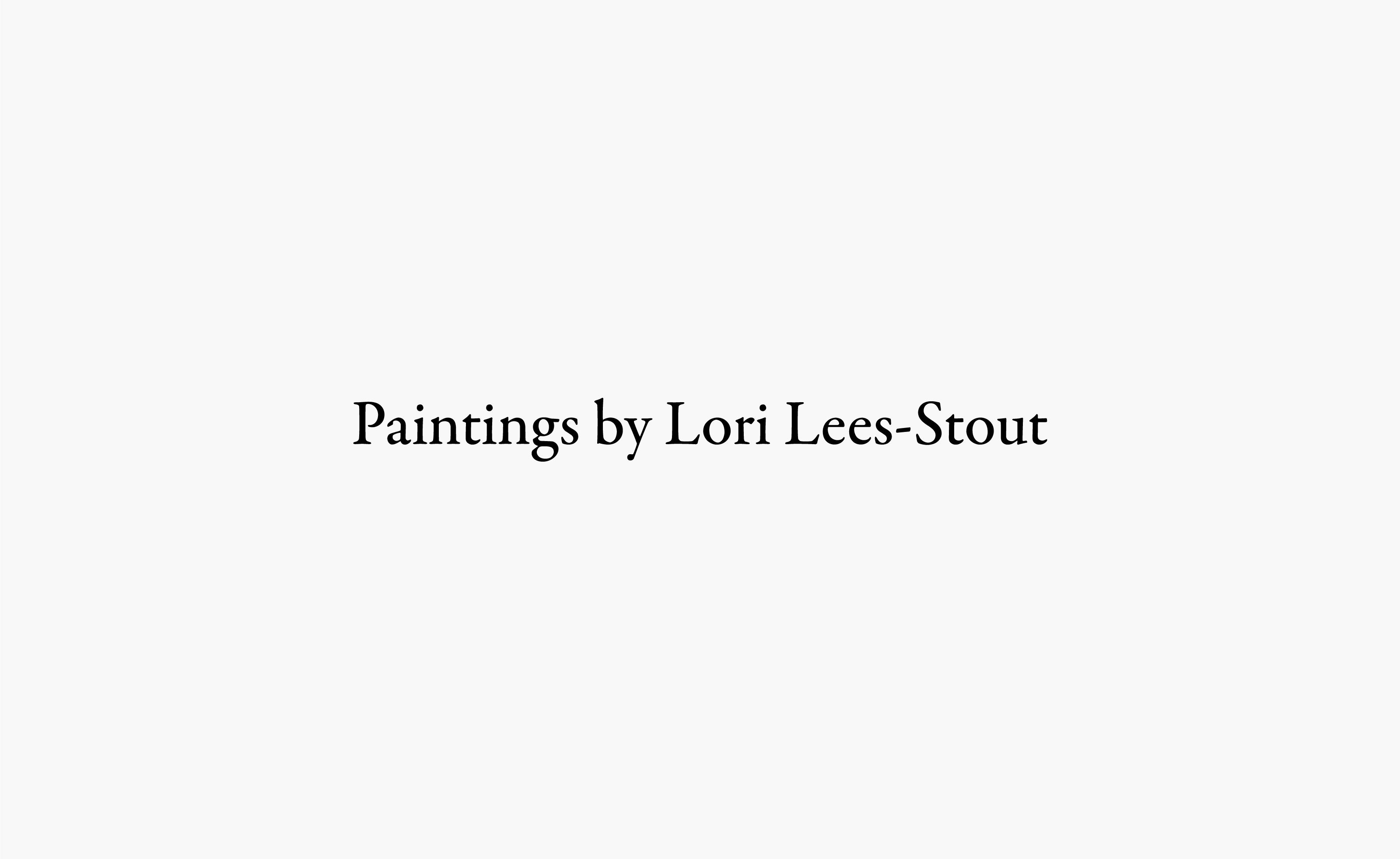 Paintings by Lori Lees-Stout logo centered on a light grey background — by Yagnyuk.