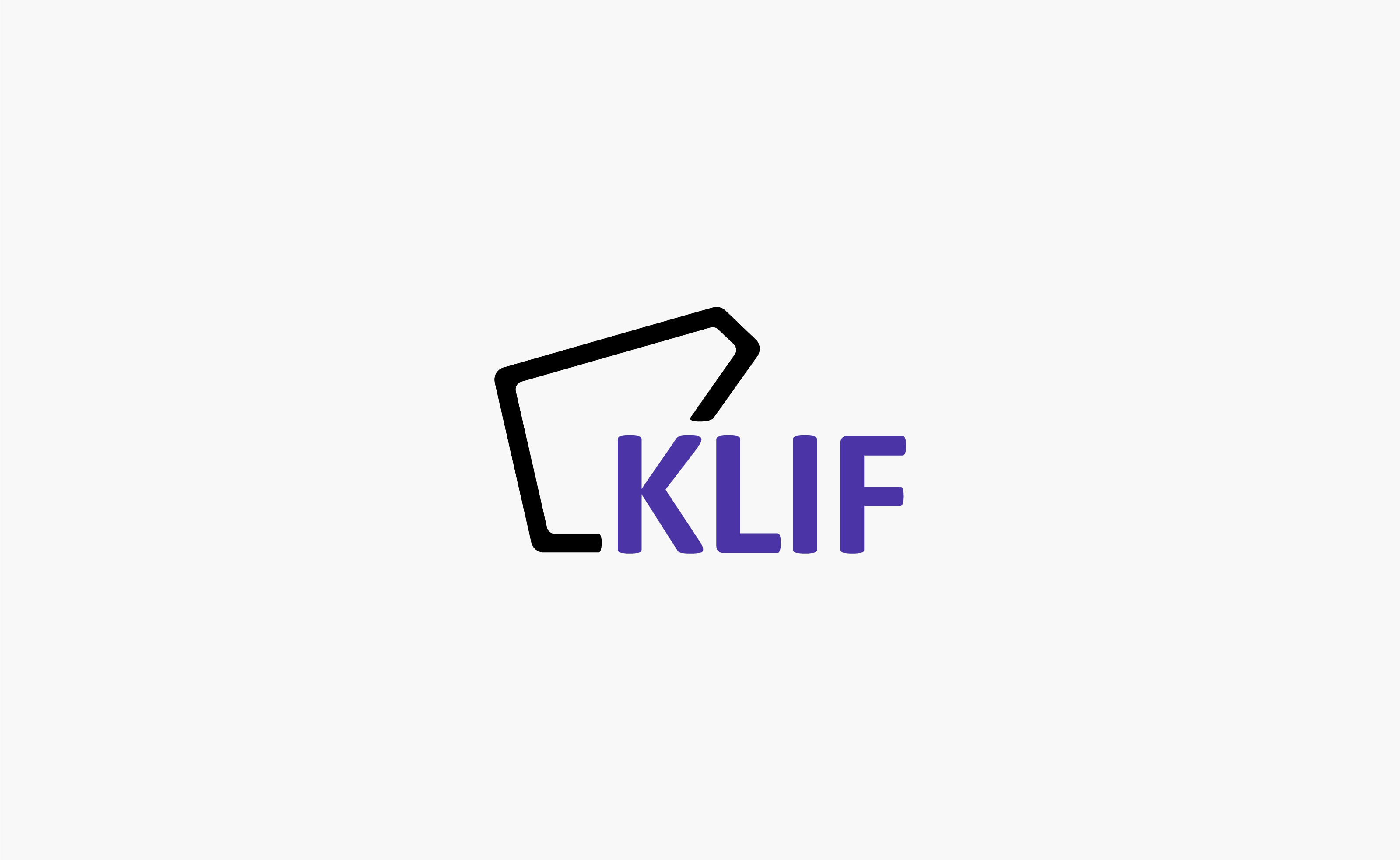 Klif Restaurant Logo centered on a light grey background — by Yagnyuk.