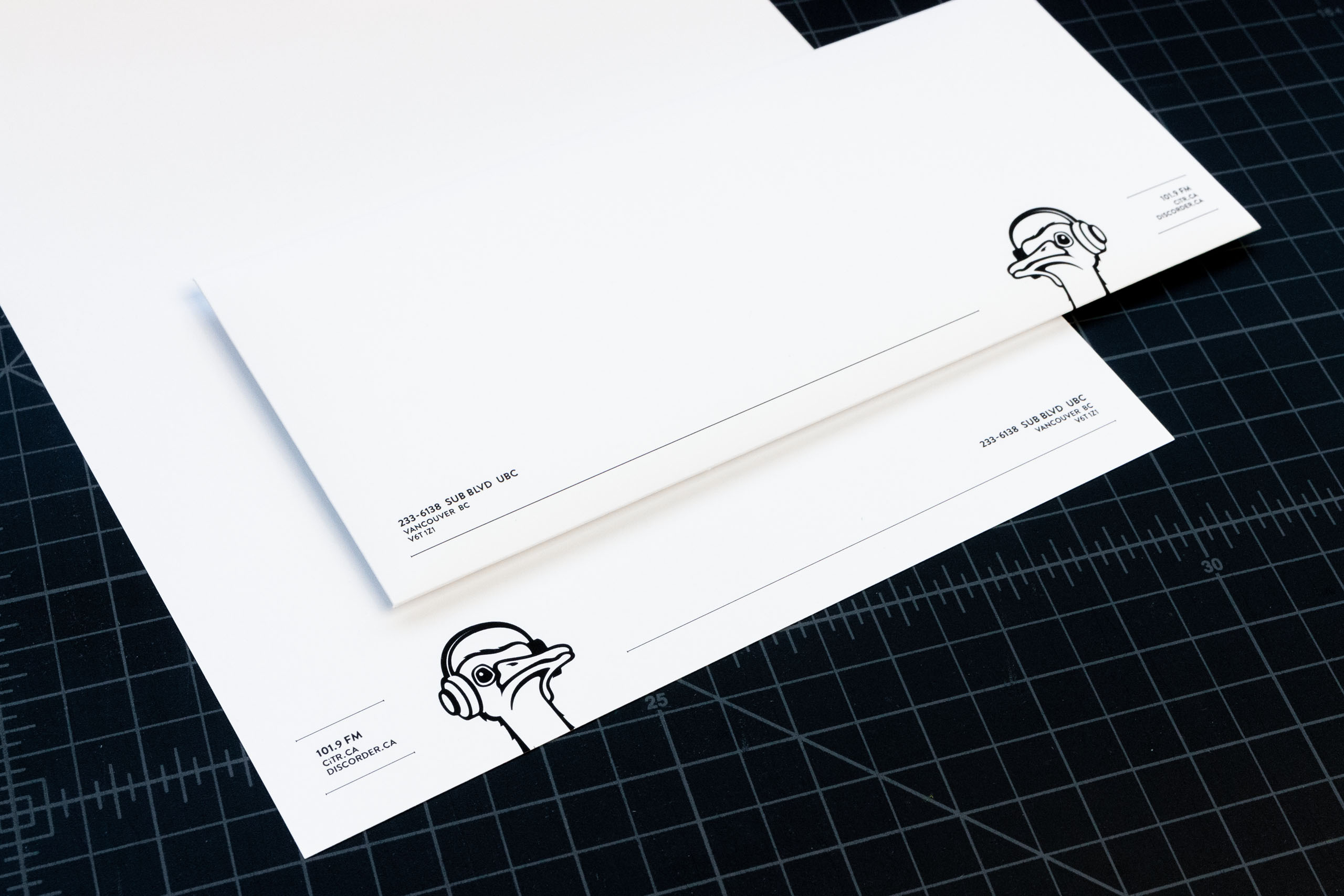 Close up of CiTR Radio letterhead and envelope — by Dima.