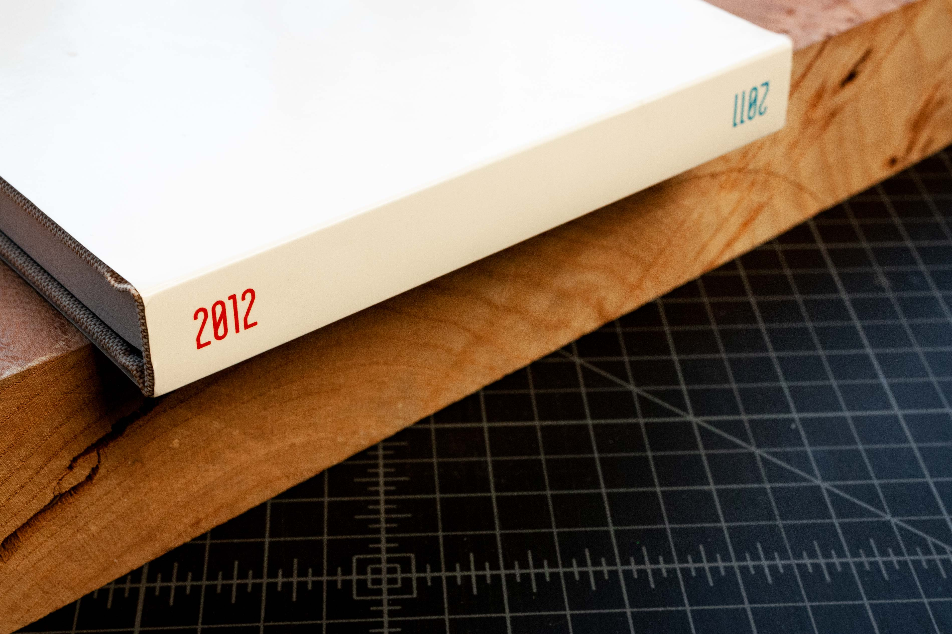 CiTR Radio book spine featuring 2011 and 2012 text — by Yagnyuk.