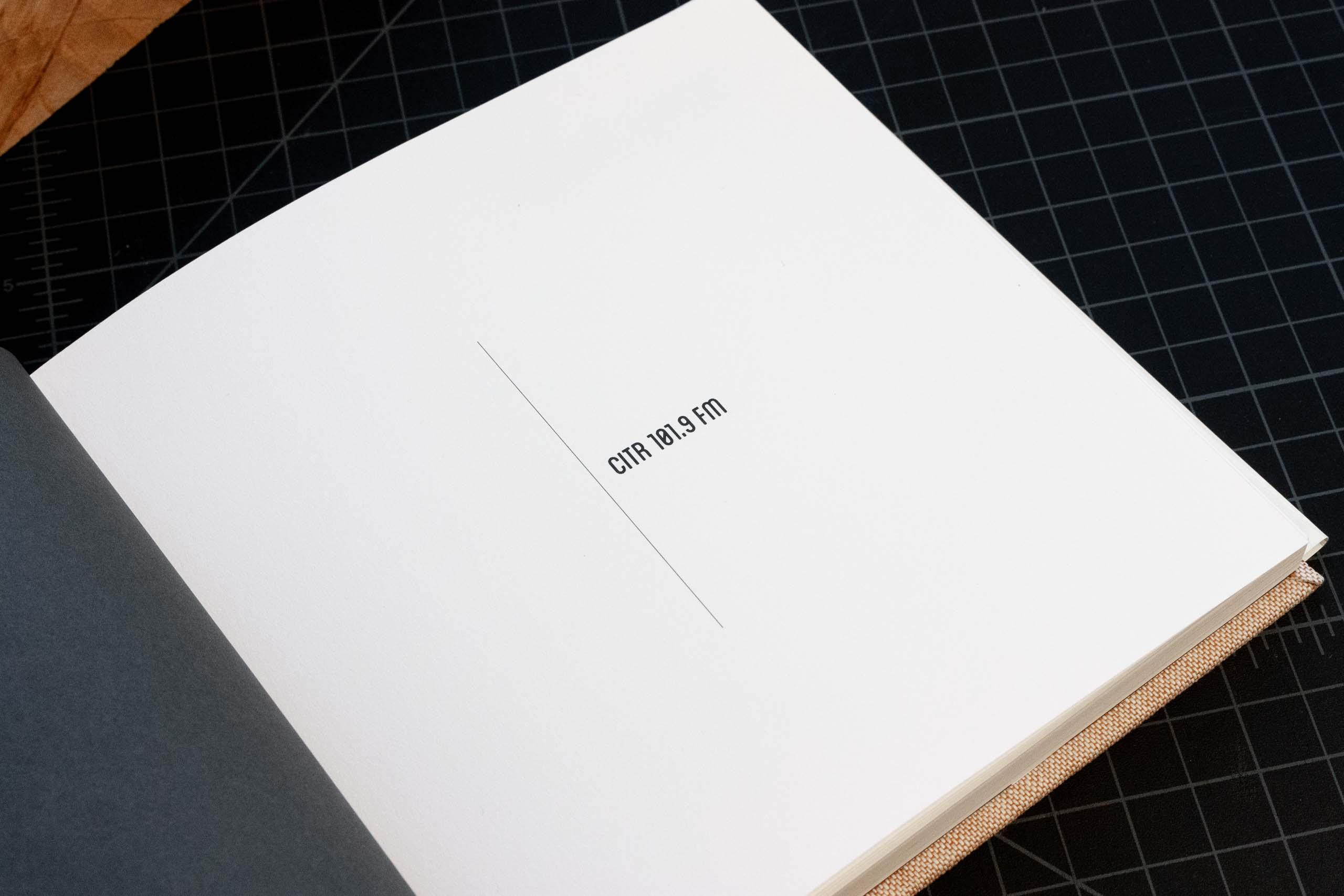CiTR Radio inside flap with radio name— by Yagnyuk.