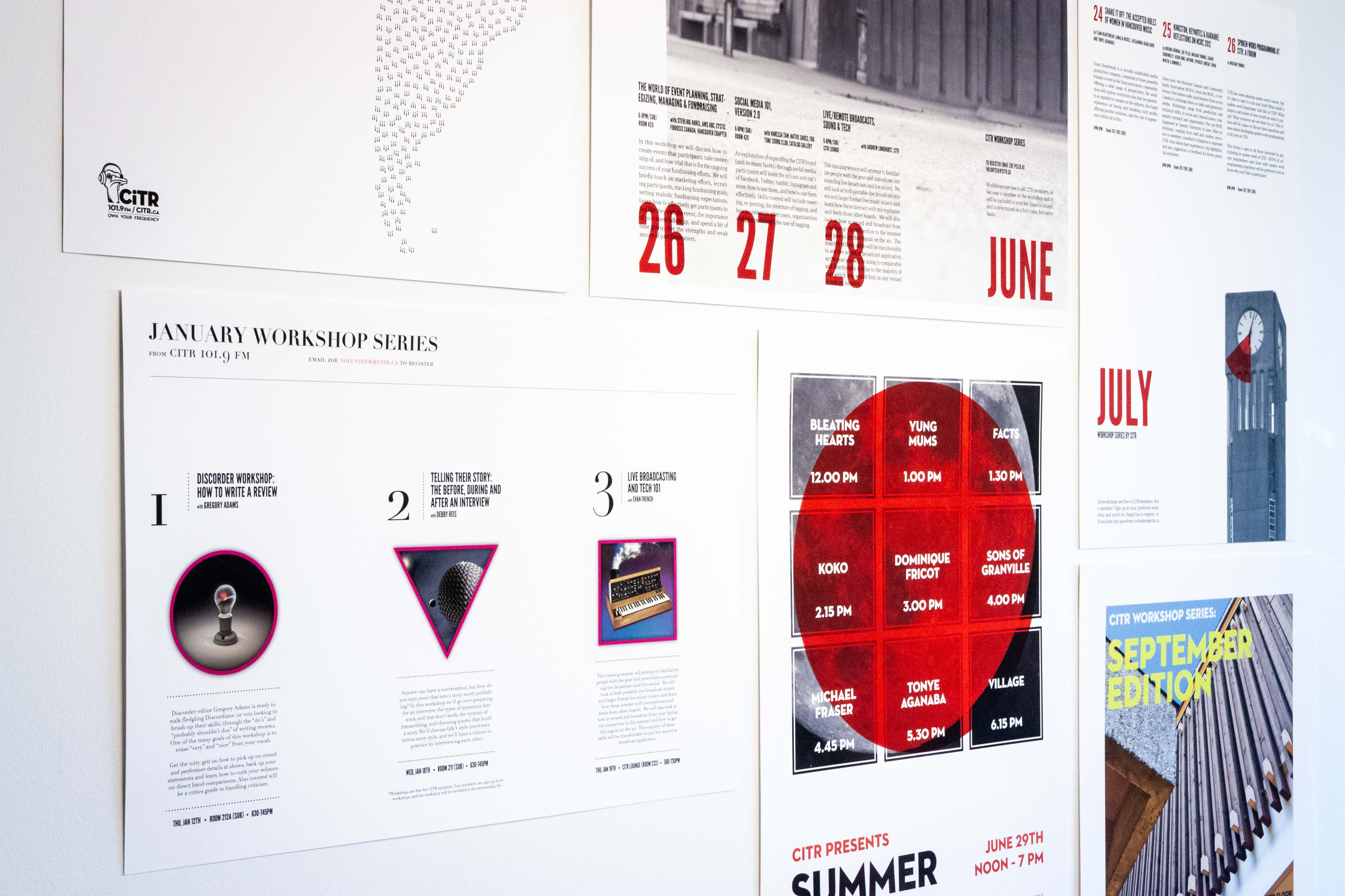 Series of posters for CiTR events and advertising — by Yagnyuk.