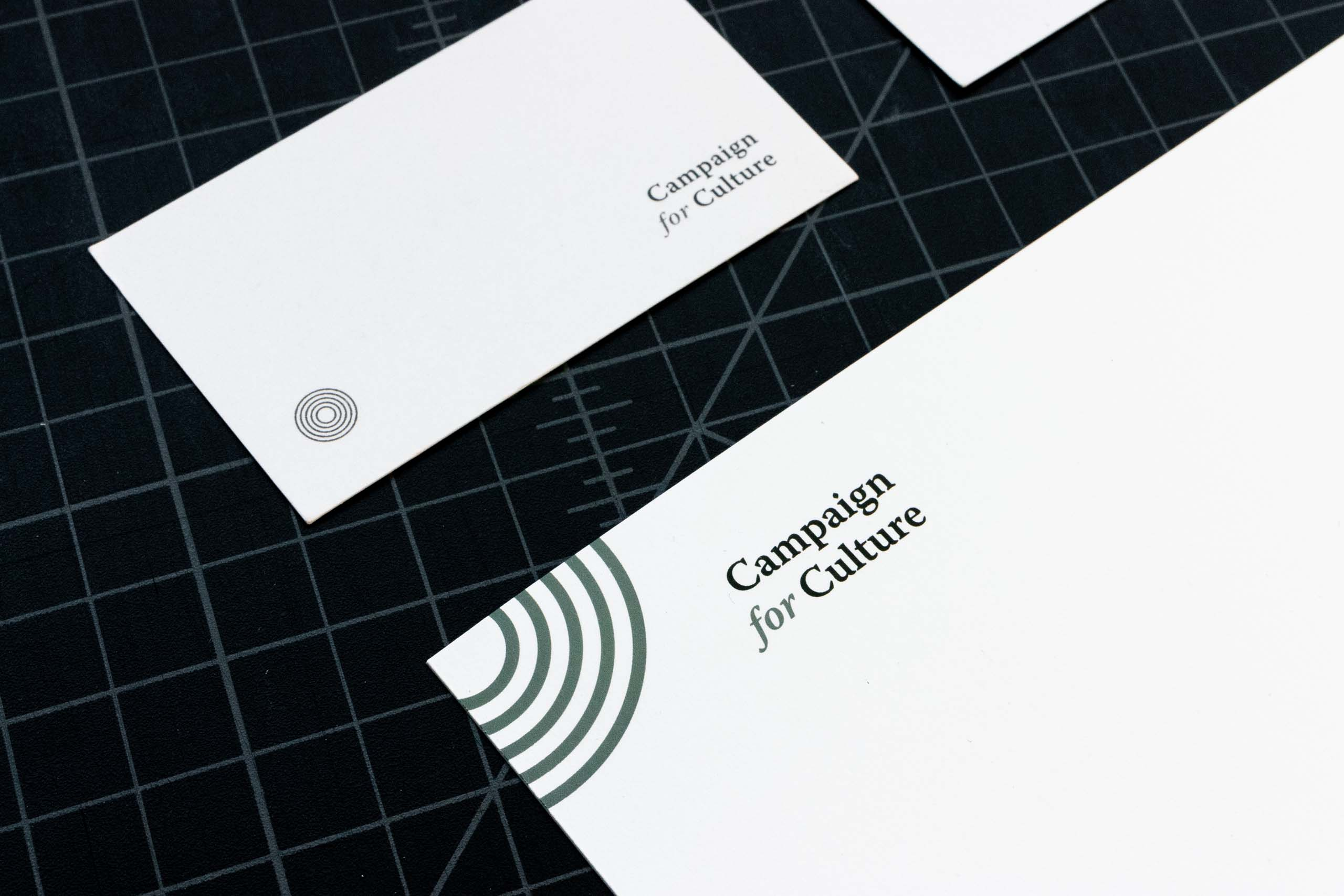 Campaign for Culture business card next to a letterhead — by Dima Yagnyuk.