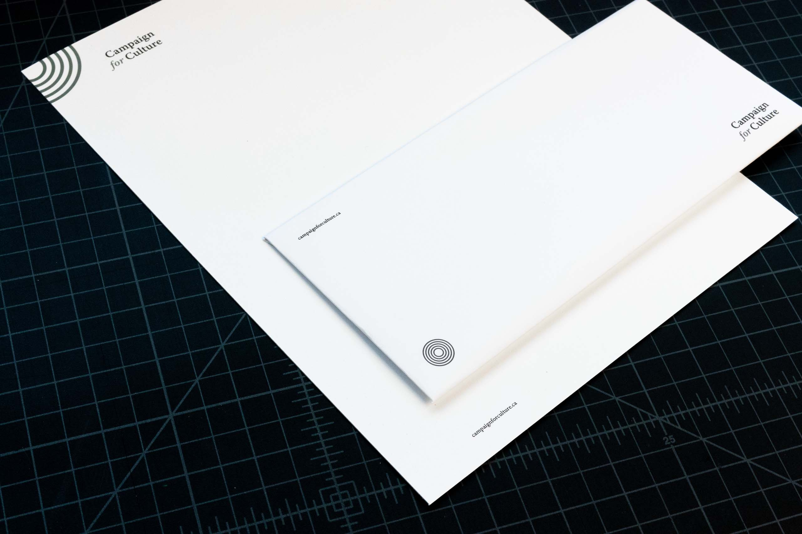 Campaign for Culture letterhead and envelope — by Yagnyuk.