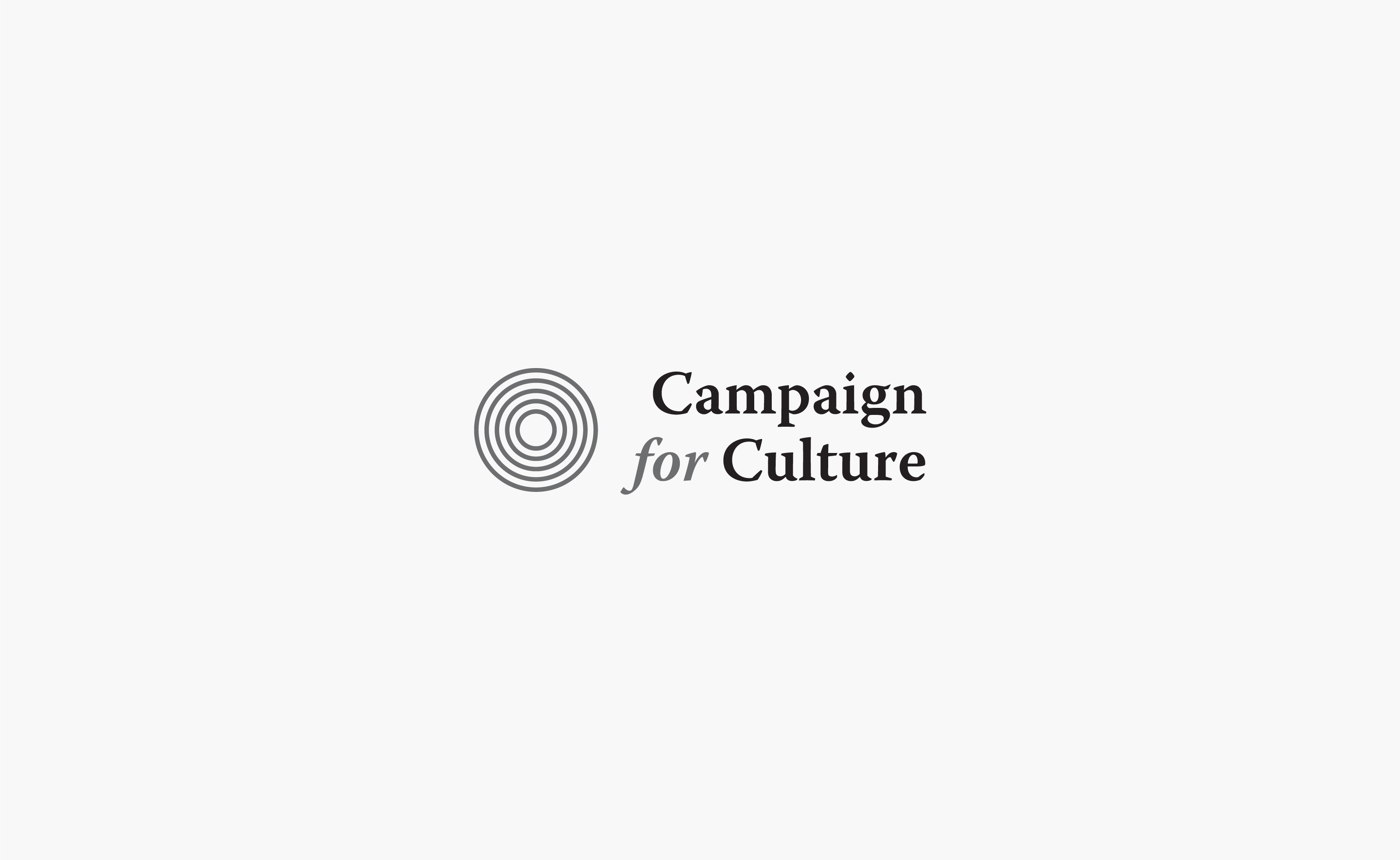 Campaign for Culture logo centered on a light grey background — by Yagnyuk.