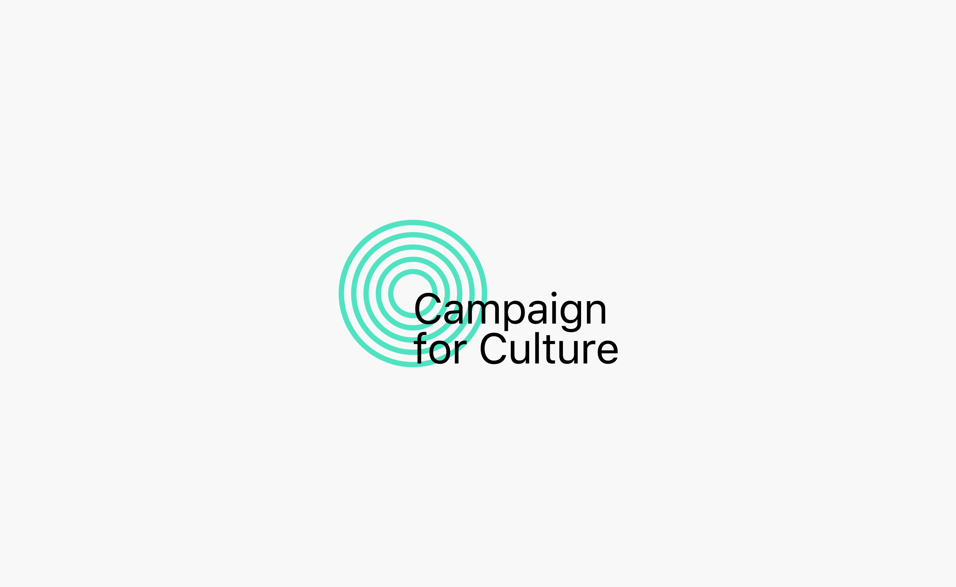 Campaign for Culture Updated Logo centered on a grey background — by Yagnyuk.