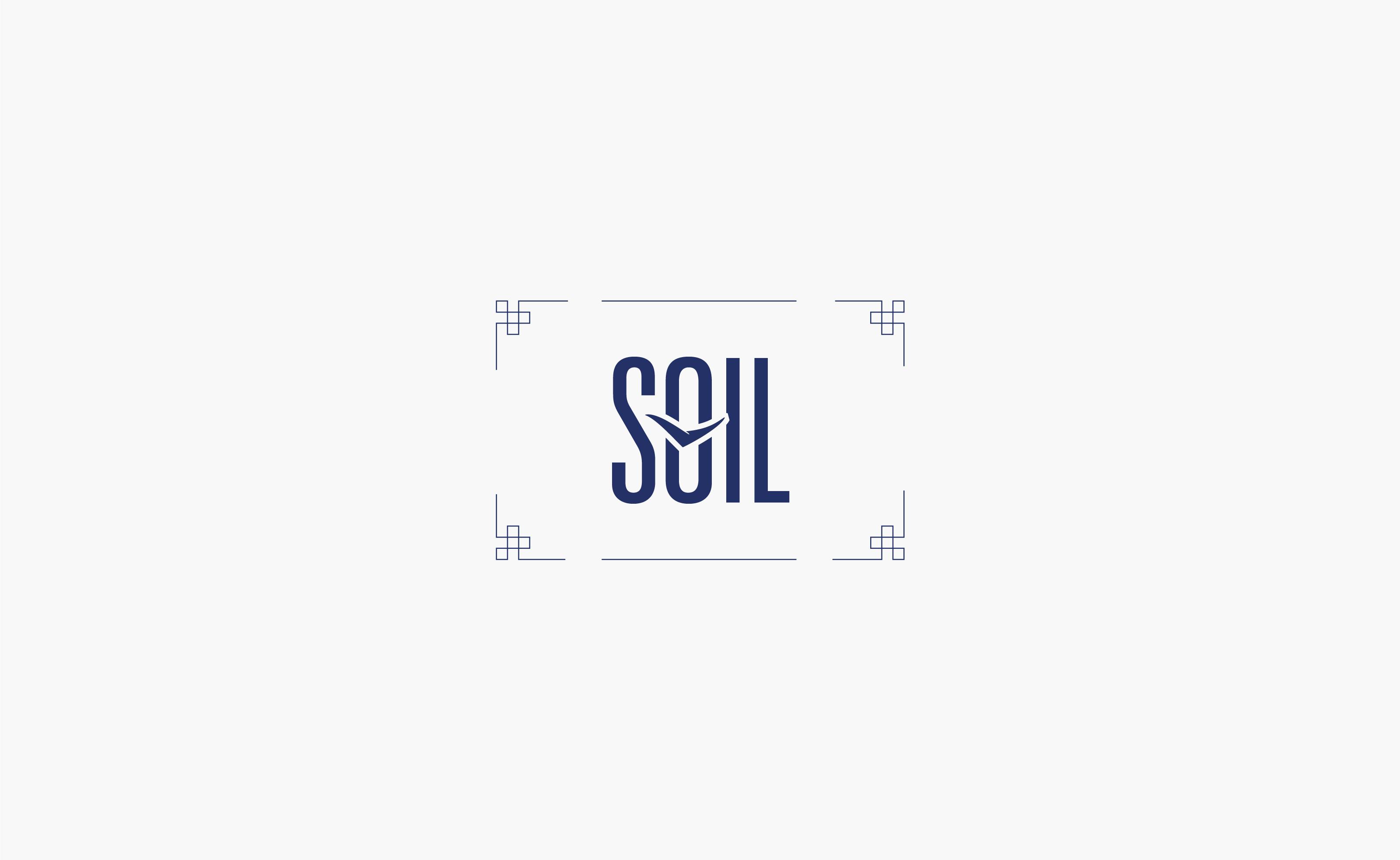 Framed SOIl Restaurant Logo centered on a grey background — by Yagnyuk