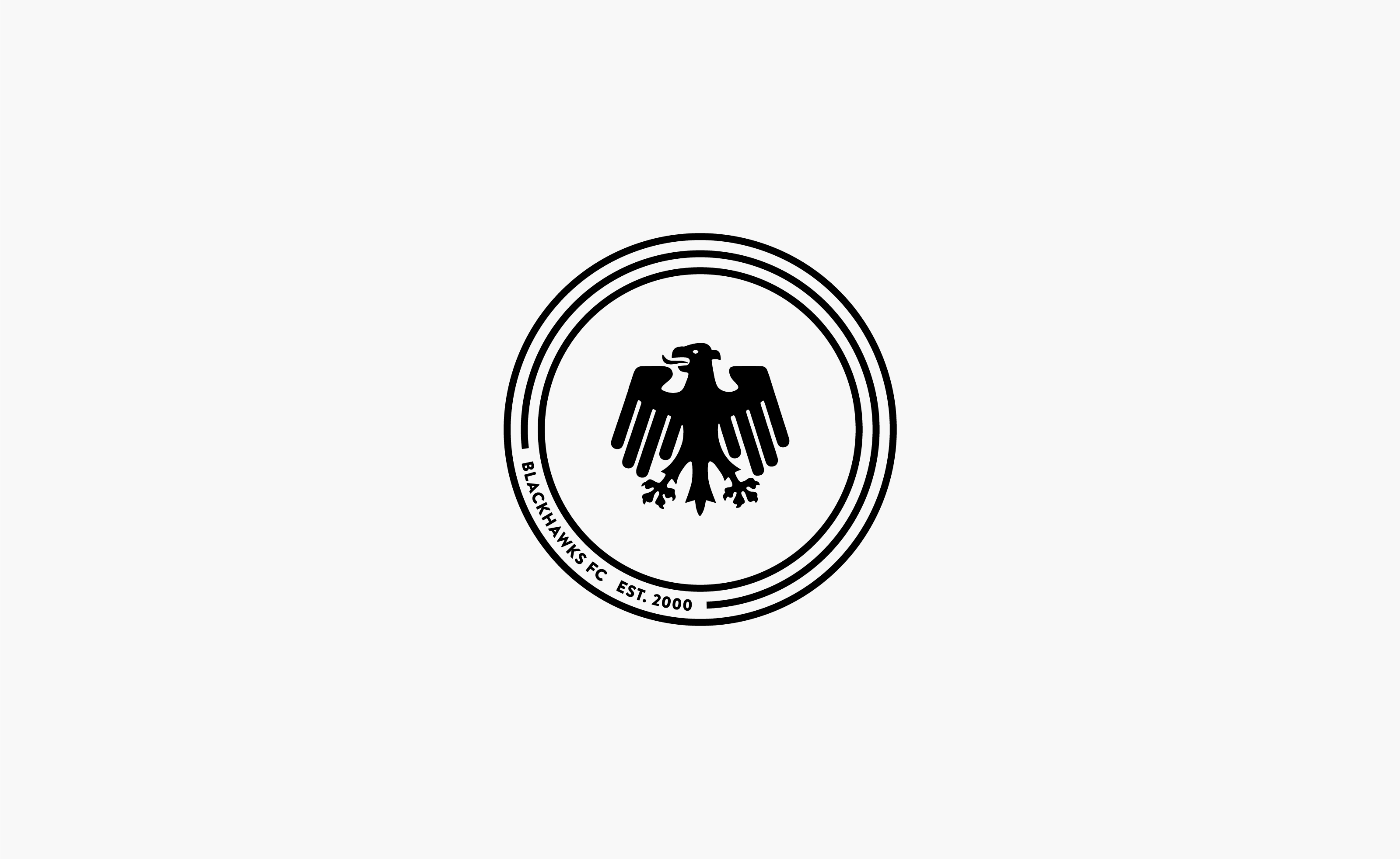 Blackhawks FC logo centered on grey background — by Yagnyuk