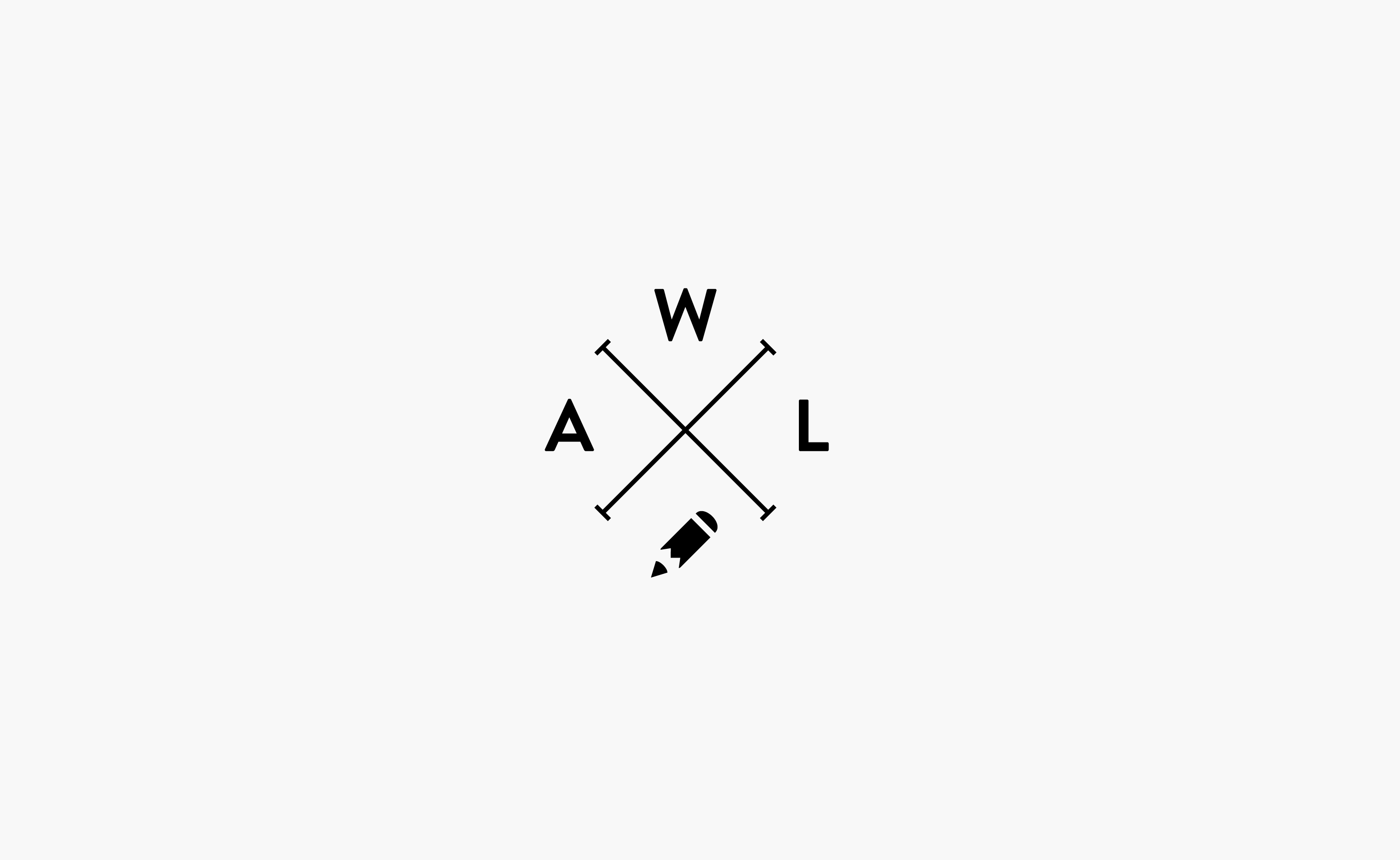AWL Consulting logo centered or a light grey background — by Yagnyuk.