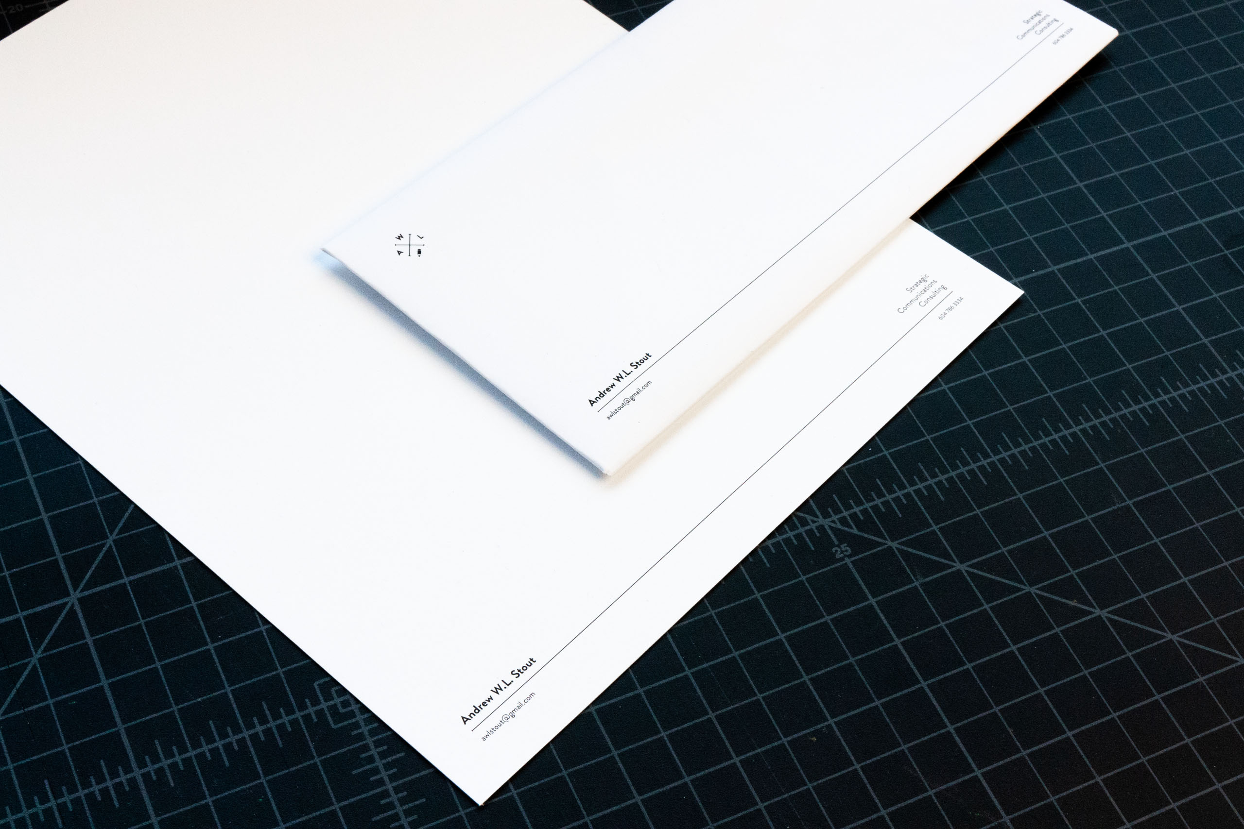 AWL Consulting letterhead and envelope — by Dima Yagnyuk.