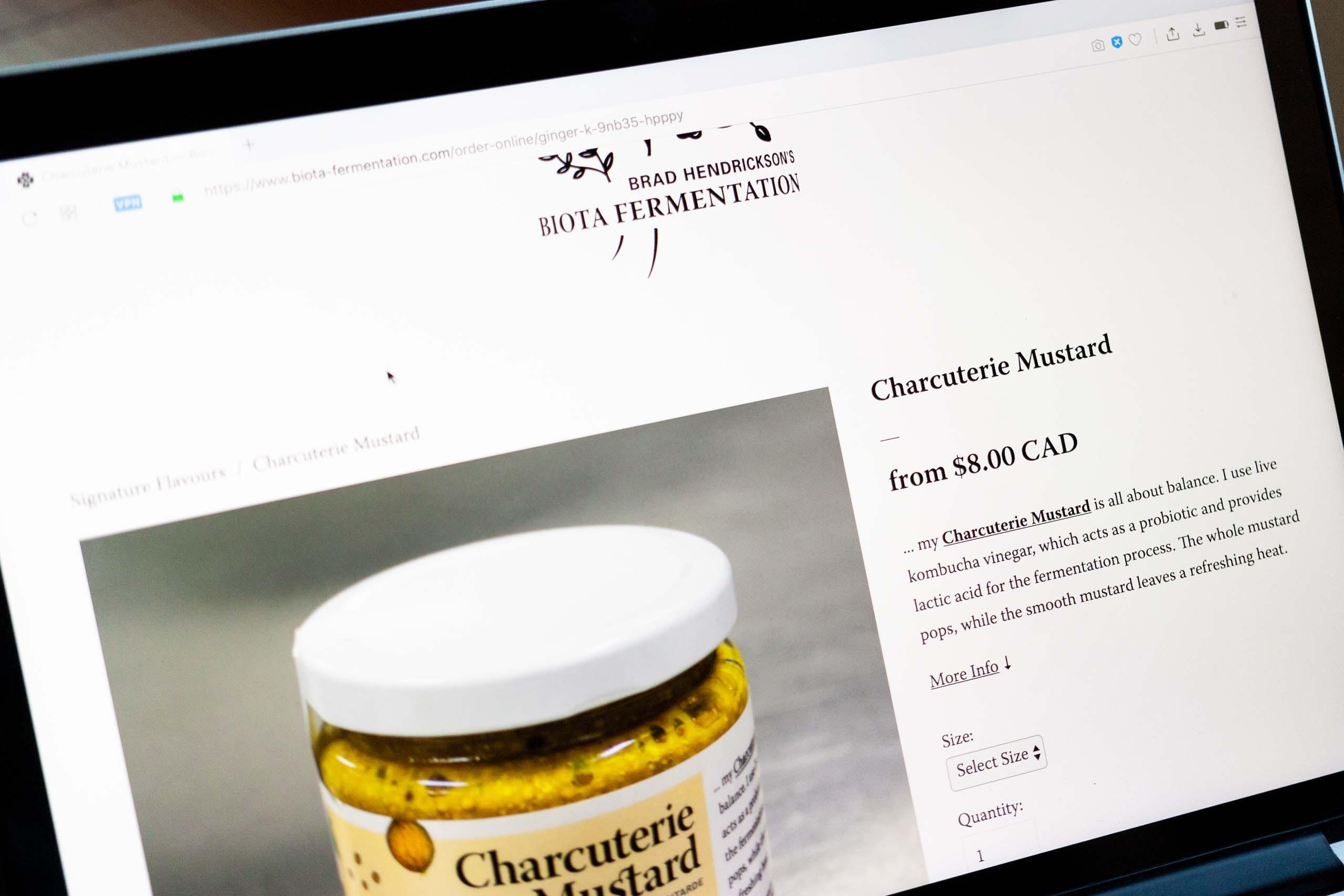 Charcuterie Mustard product page — by Yagnyuk.