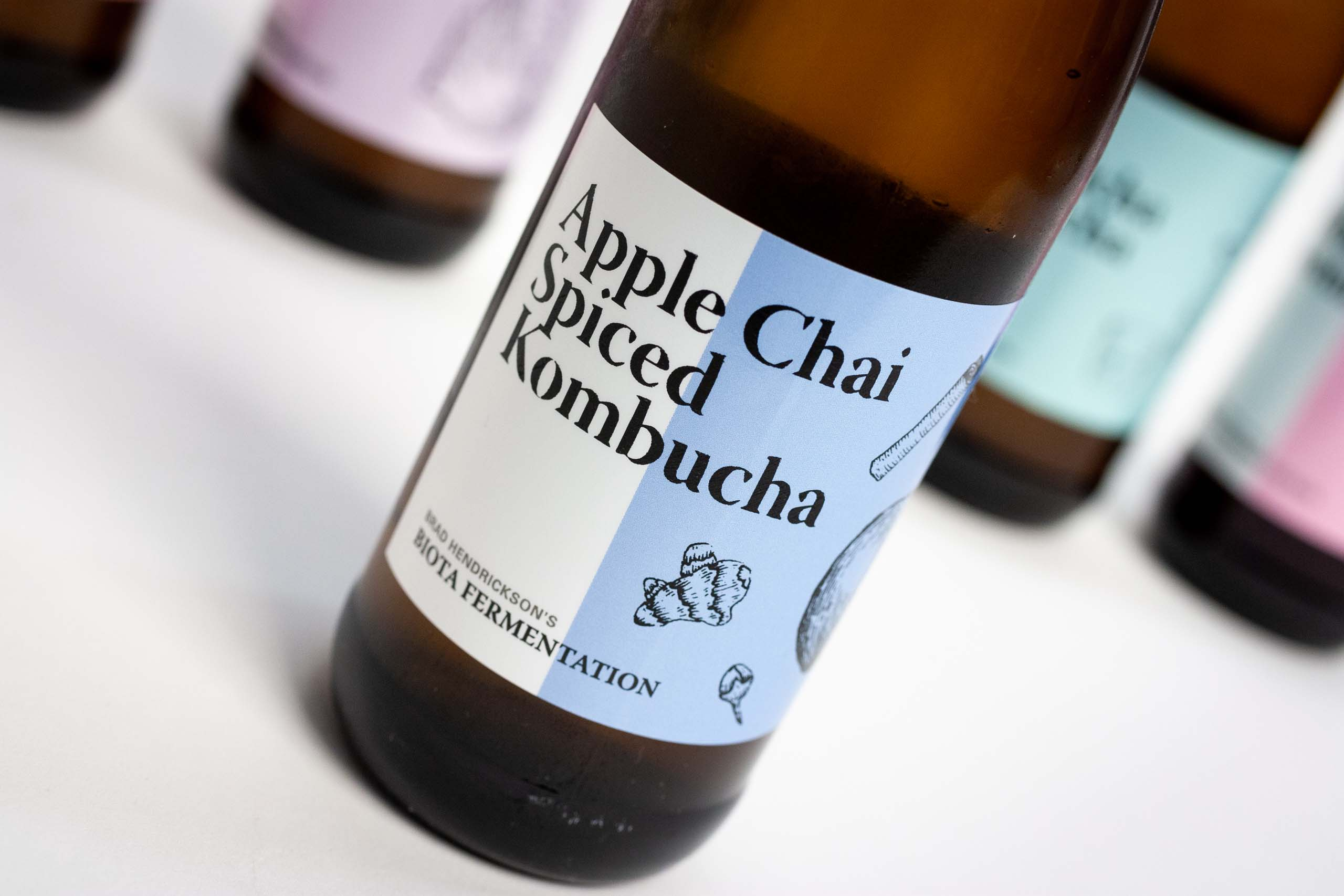 Apple Chain Spiced Kombucha Label up close — by Yagnyuk.