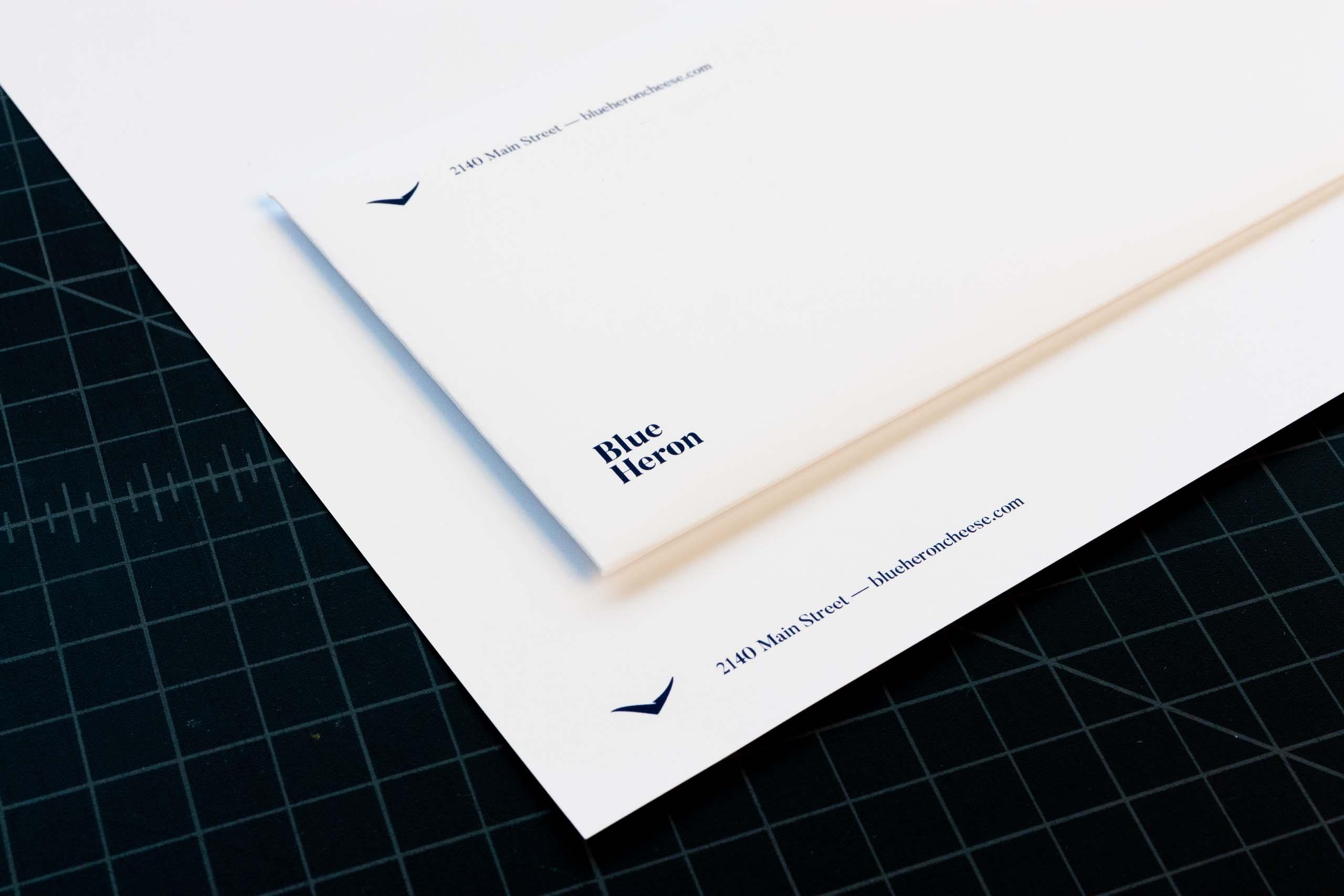 Blue Heron envelope and letterhead design — by Yagnyuk.