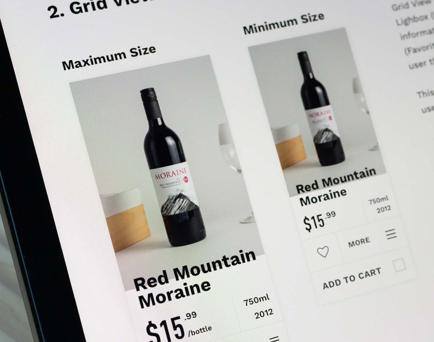 New Districts Red Mountain Moraine E-Commerce grid view product variants — by Yagnyuk.
