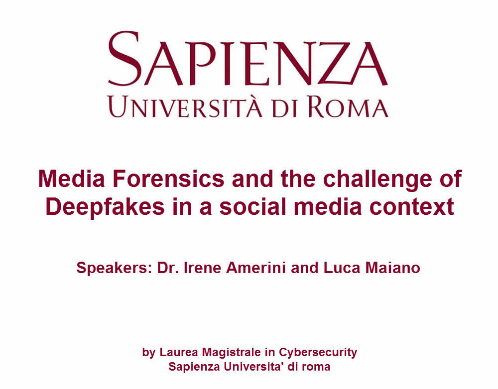 Media Forensics and the Challenge of seminar attended by Marc Robinson Deepfakes
