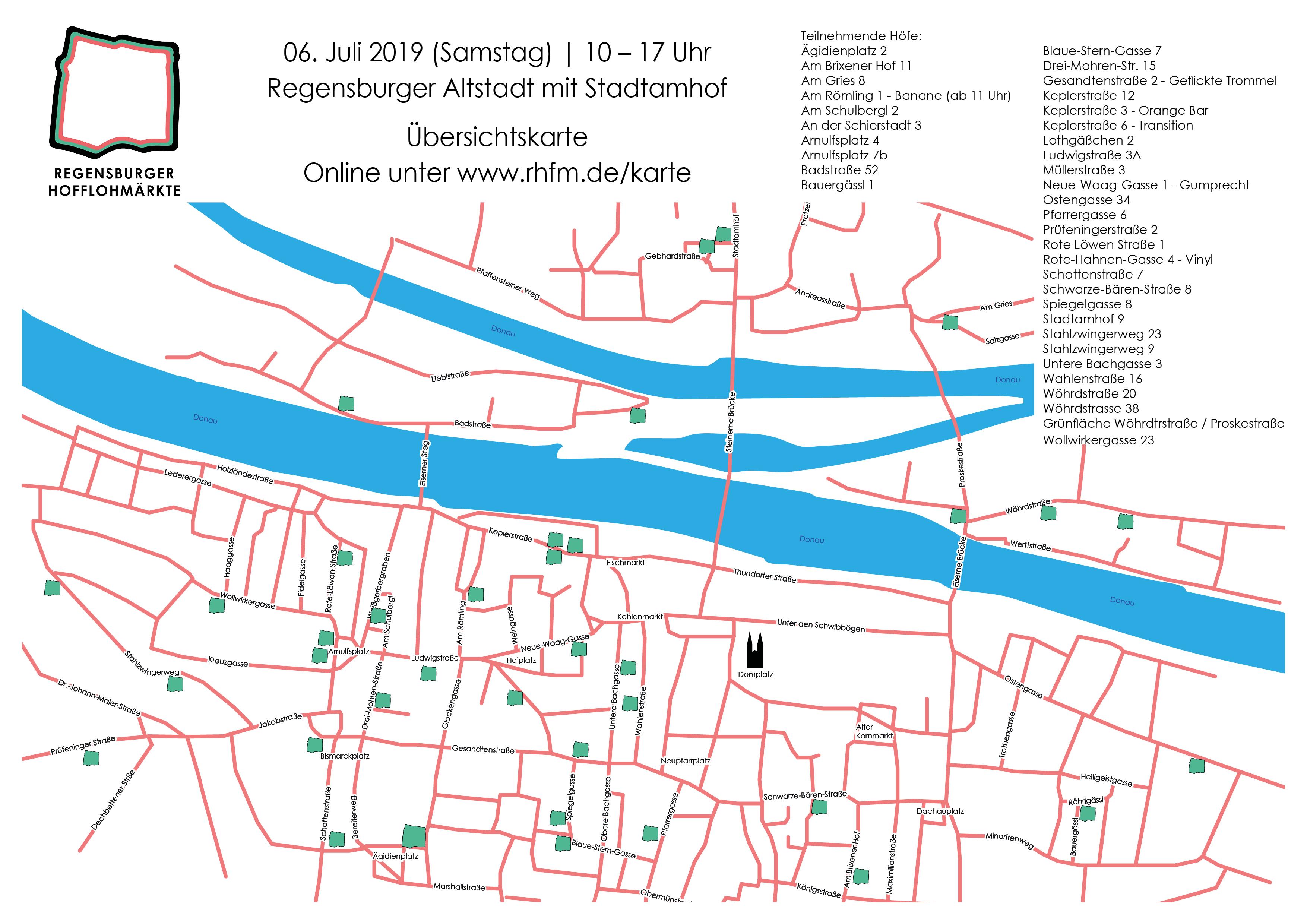 Karte Regensburg Altstadt.Karte